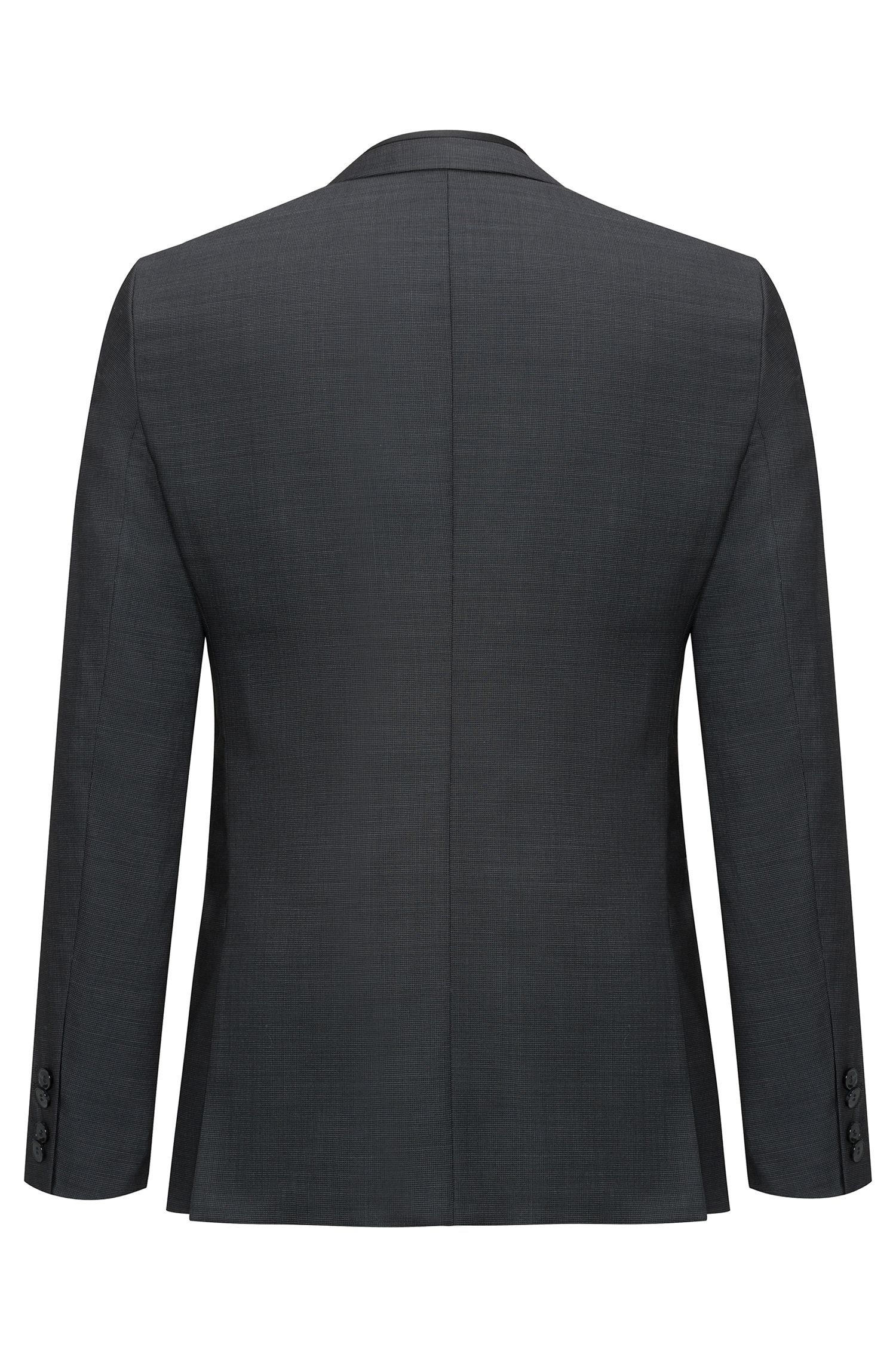 Italian Virgin Wool 3-Piece Suit, Extra Slim Fit | Phil/Taylor, Black