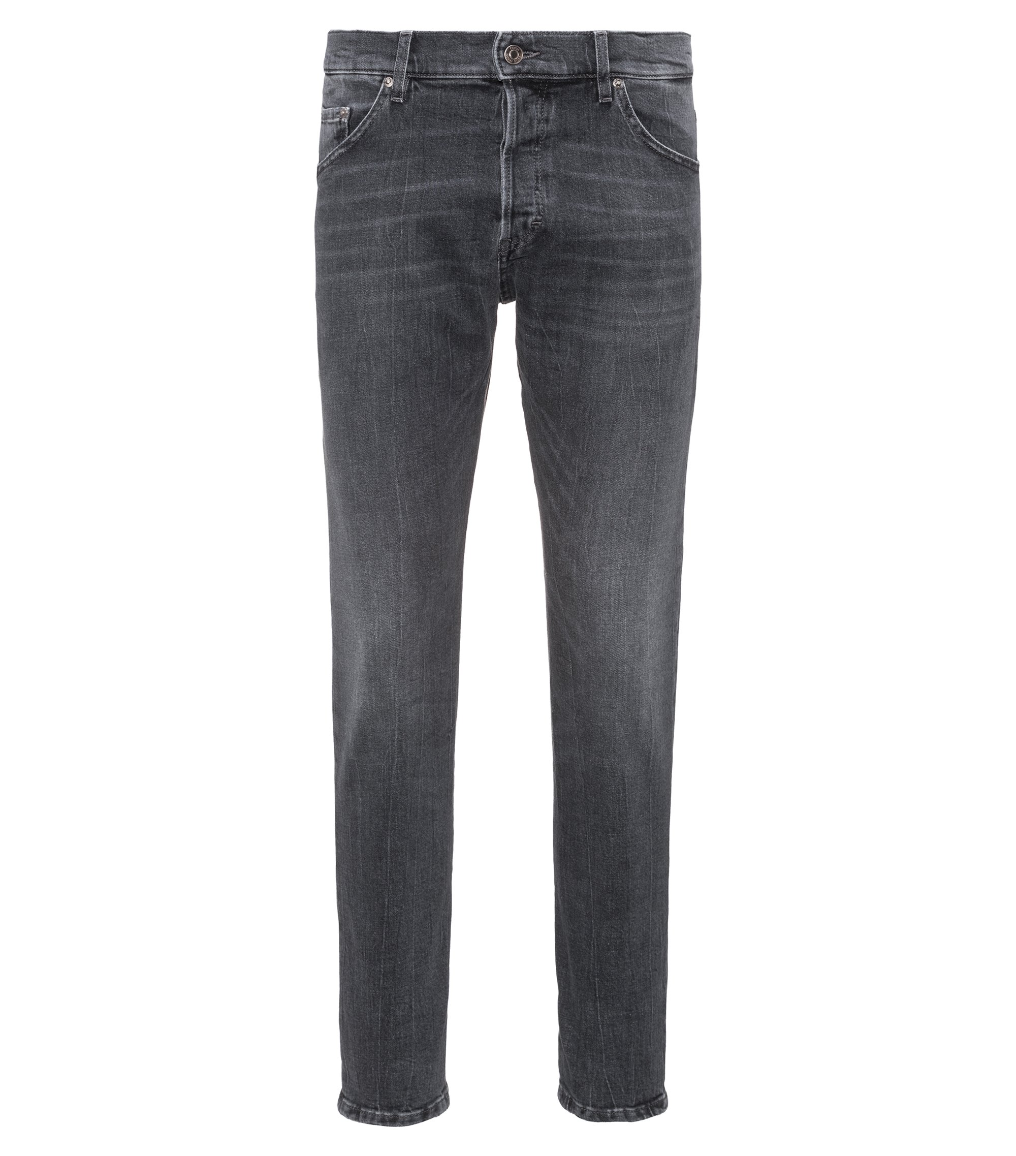 Stretch Denim Jean, Tapered Fit | Hugo, Grey