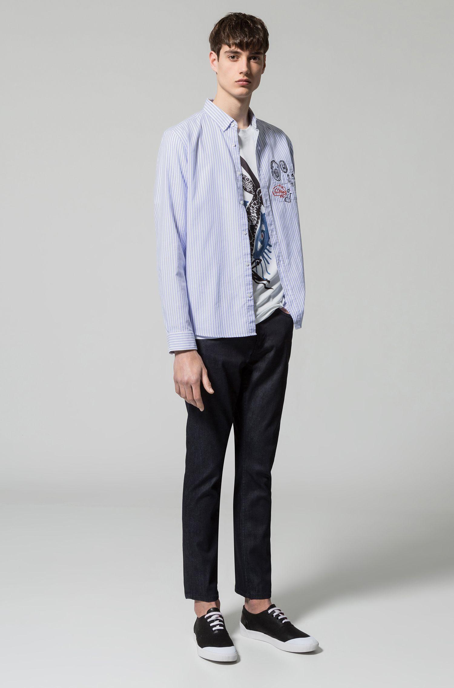 Stretch Cotton Jean, Regular Fit | Hugo 677 , Dark Blue