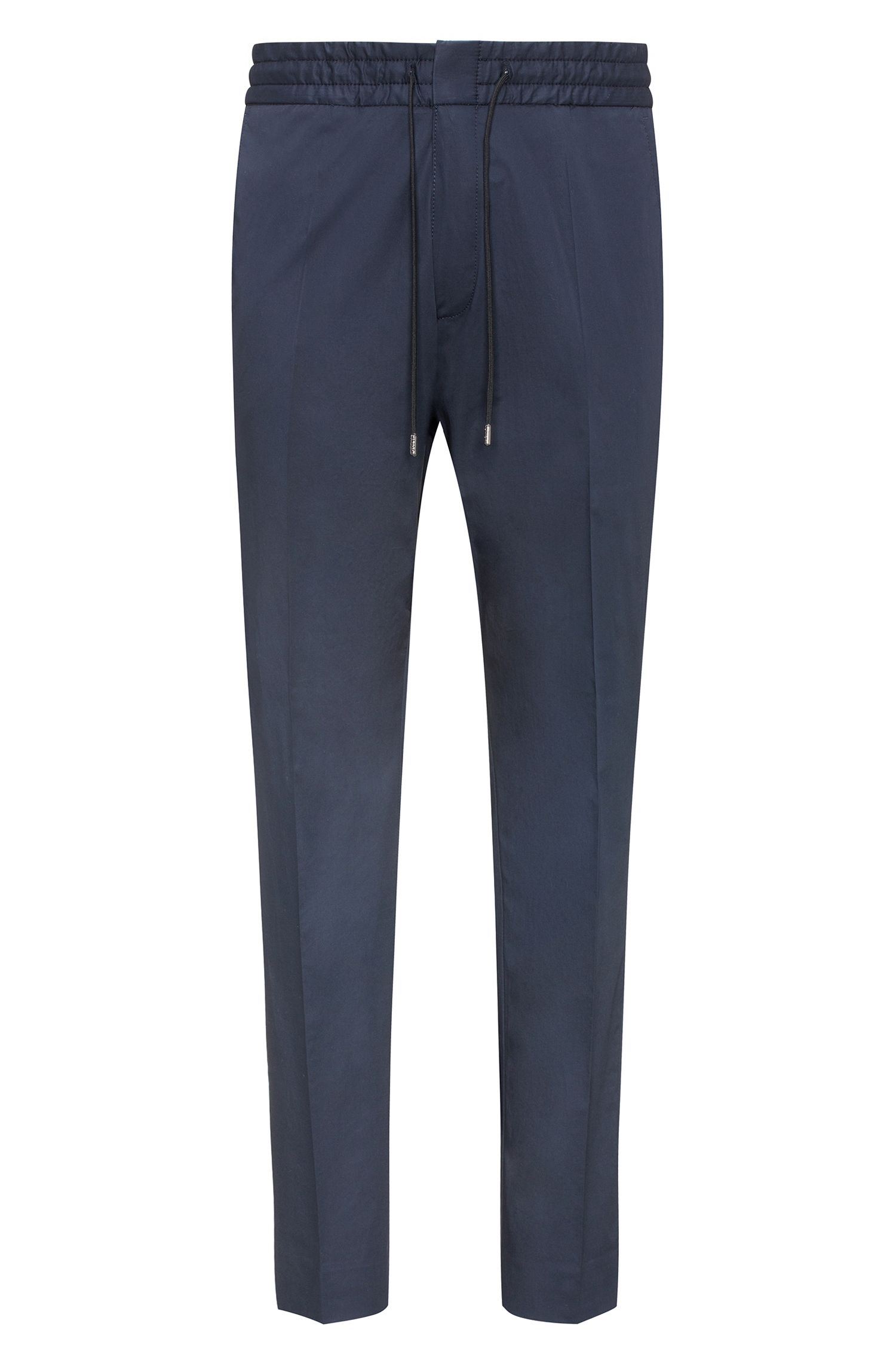Stretch Cotton Pant, Tapered Fit | Himesh, Dark Blue
