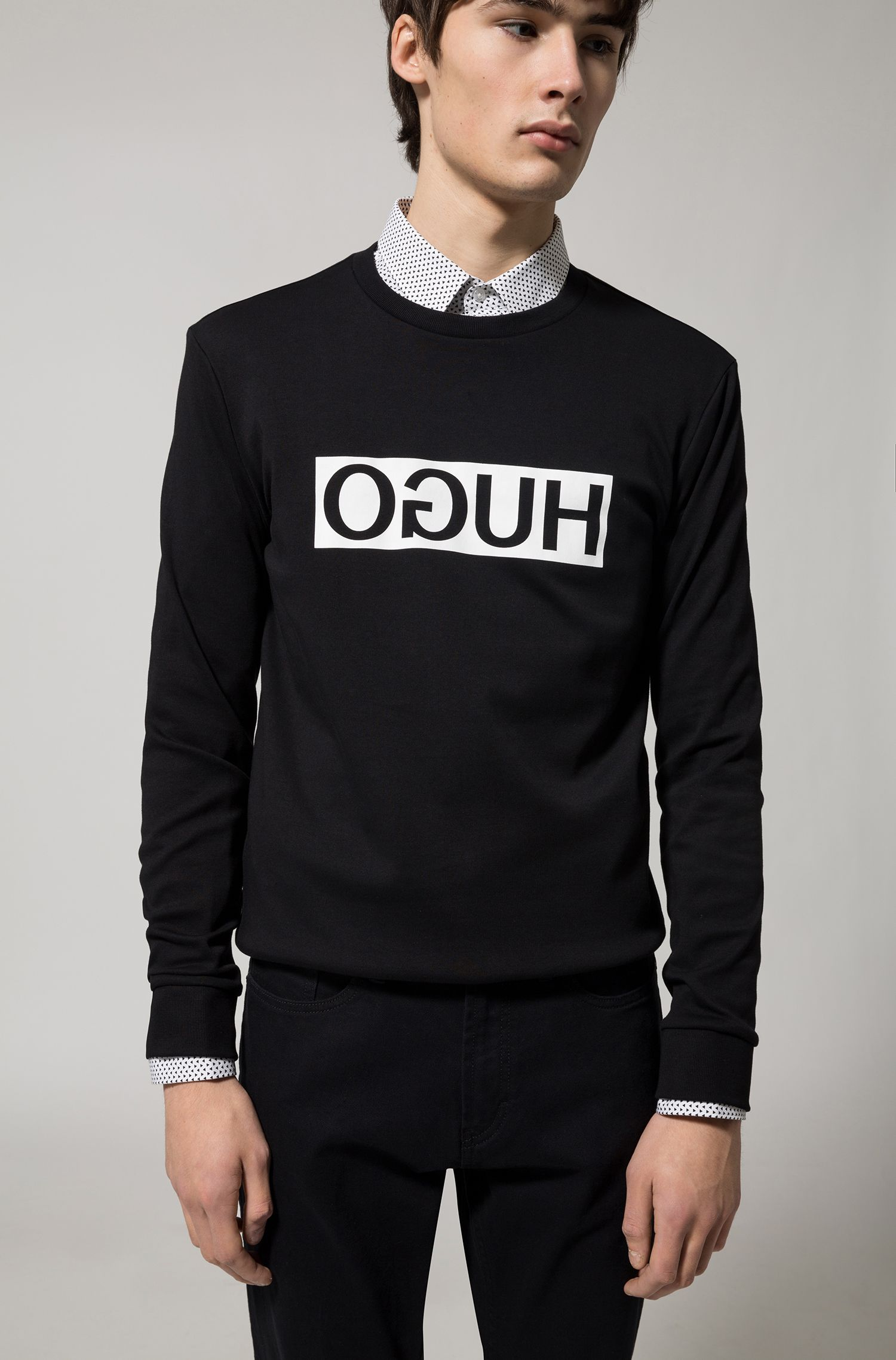 Stretch Cotton Jean, Regular Fit | HUGO 677
