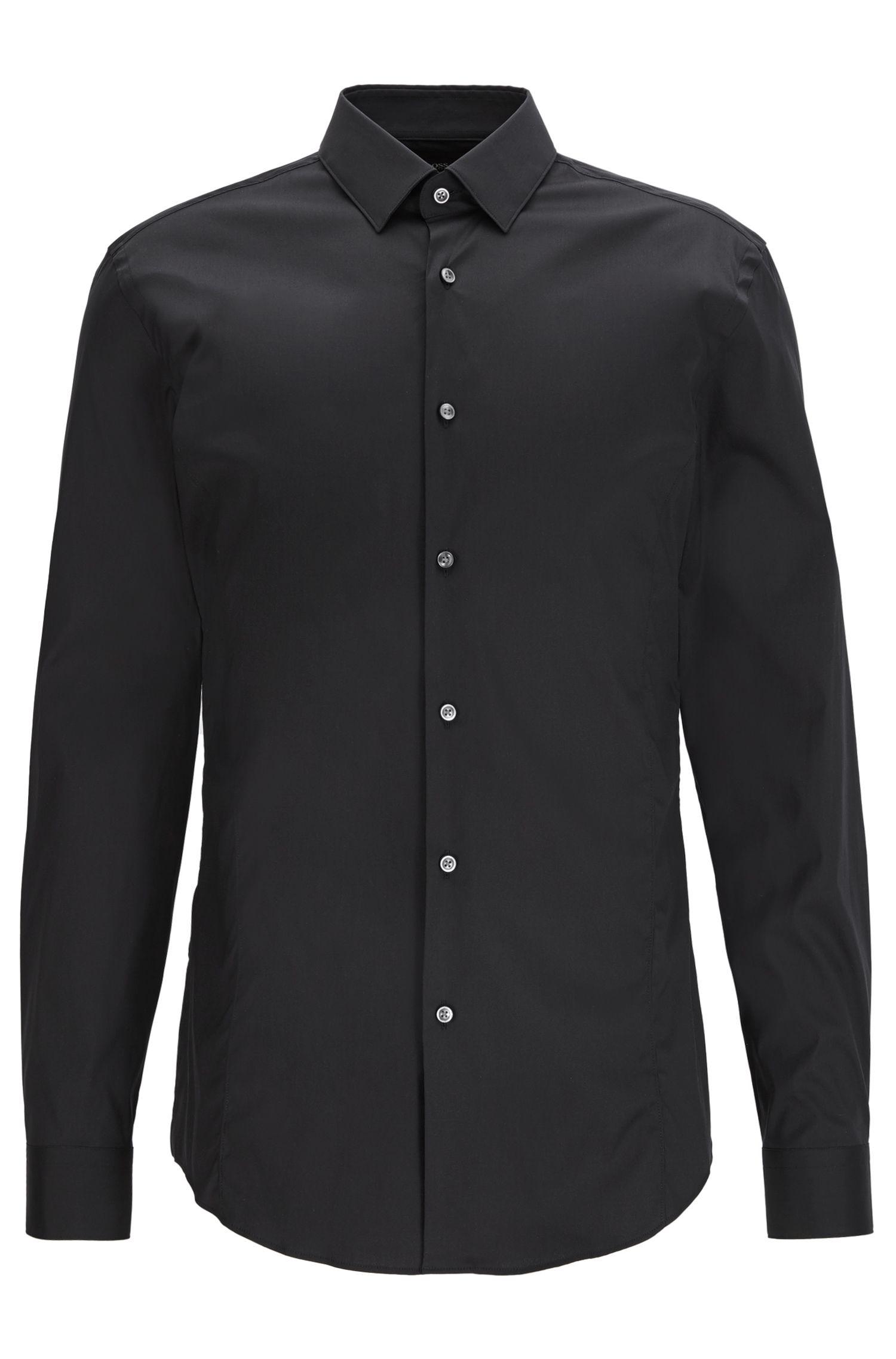 Cotton Blend Shirt, Slim Fit   Ilan