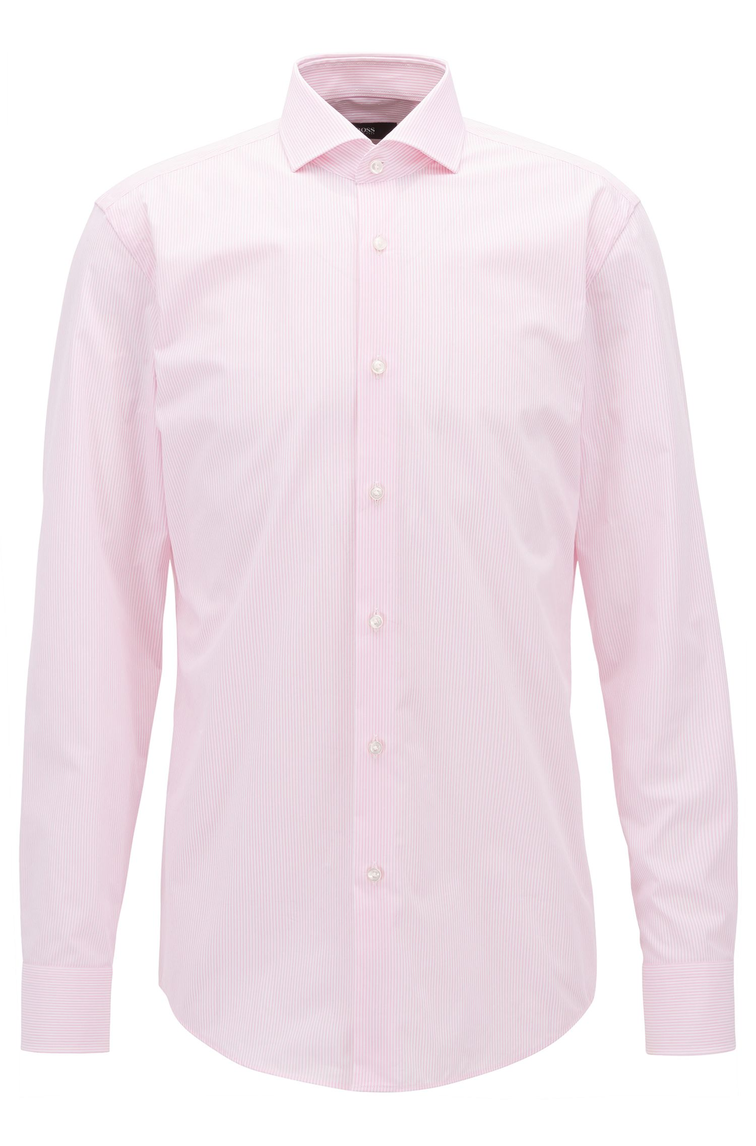 Striped Cotton Dress Shirt, Slim Fit | Jason