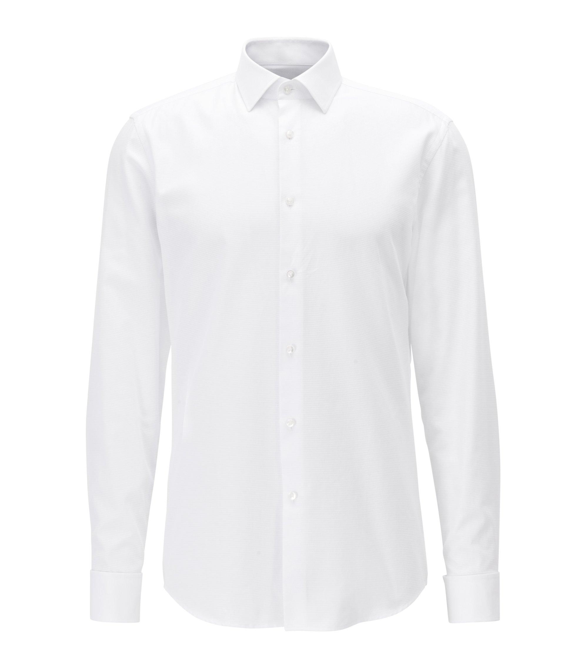 Cotton Dress Shirt, Slim Fit | Jacques, White