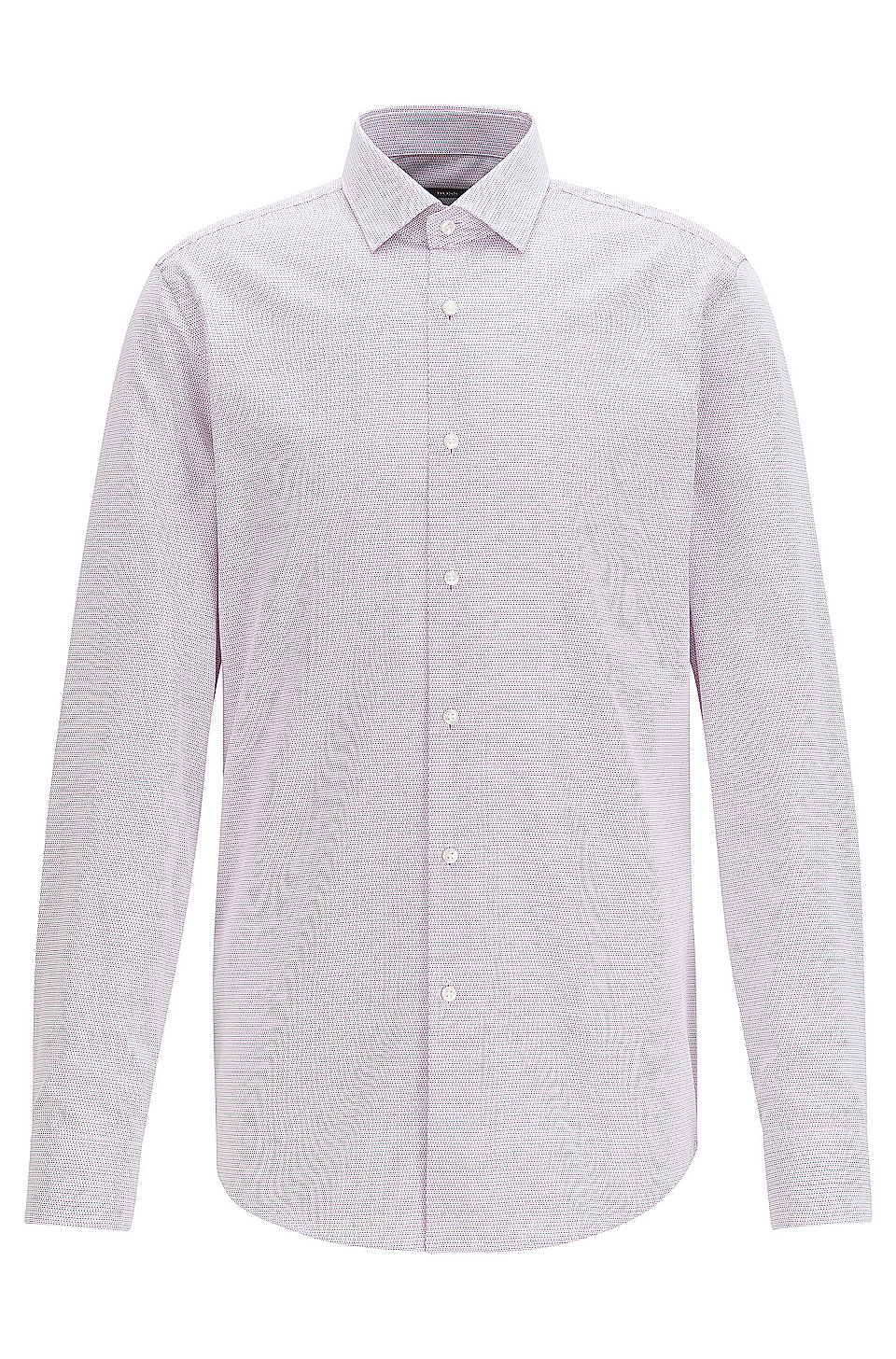Boss Micro Pattern Cotton Dress Shirt Slim Fit Ismo