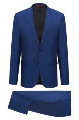 Wool Mohair Suit, Extra Slim Fit | Arti/Hesten, Open Blue