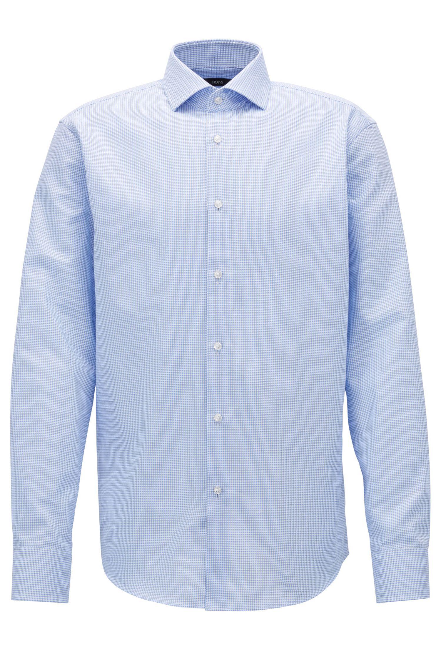 Checked Cotton Dress Shirt, Regular Fit | Gordon