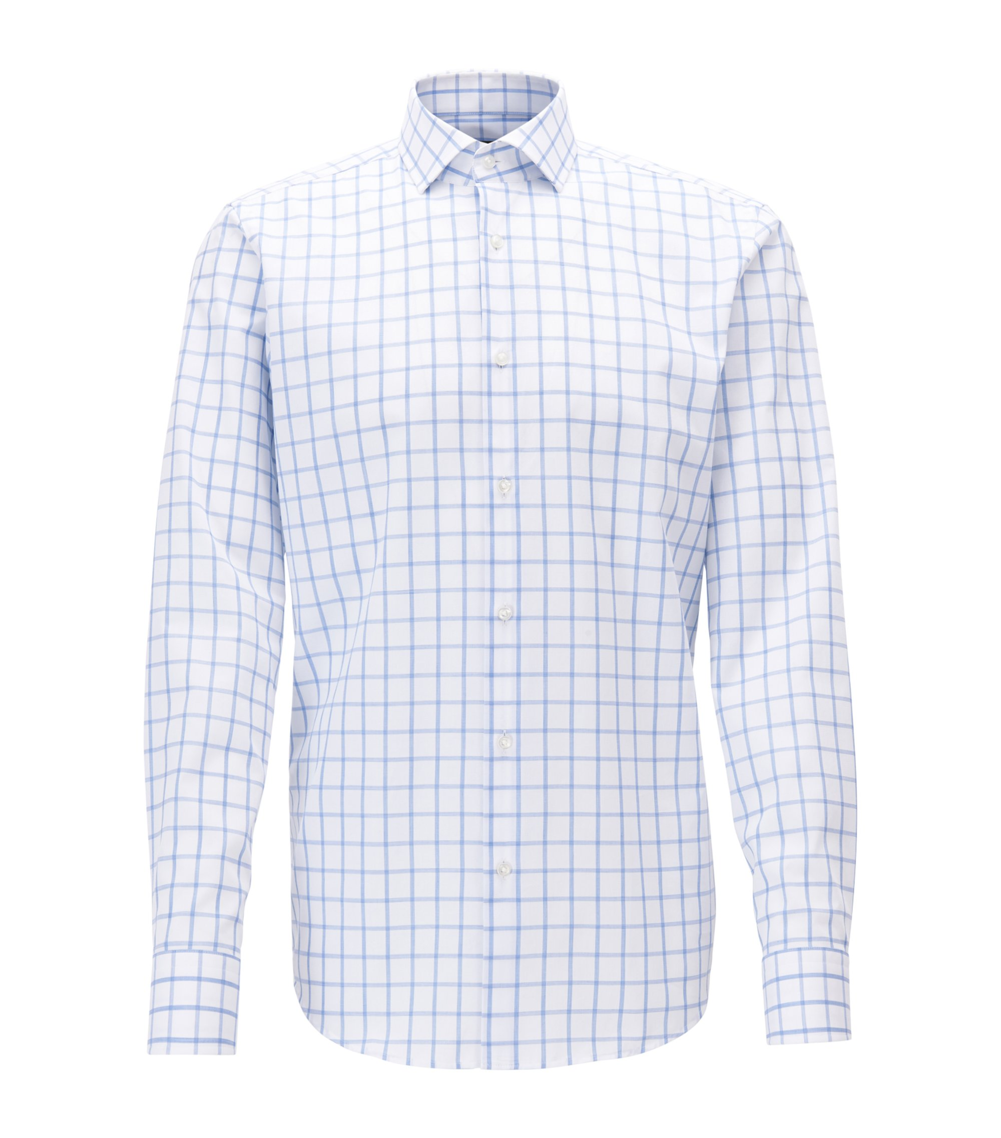 Windowpane Dress Shirt, Regular Fit | Gordon, Blue