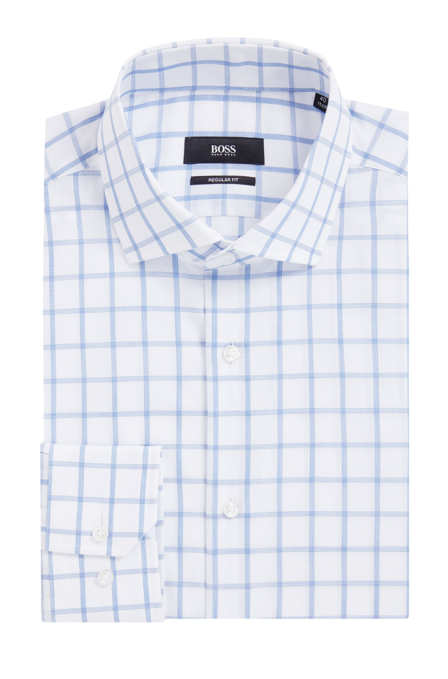 Windowpane Dress Shirt, Regular Fit | Gordon