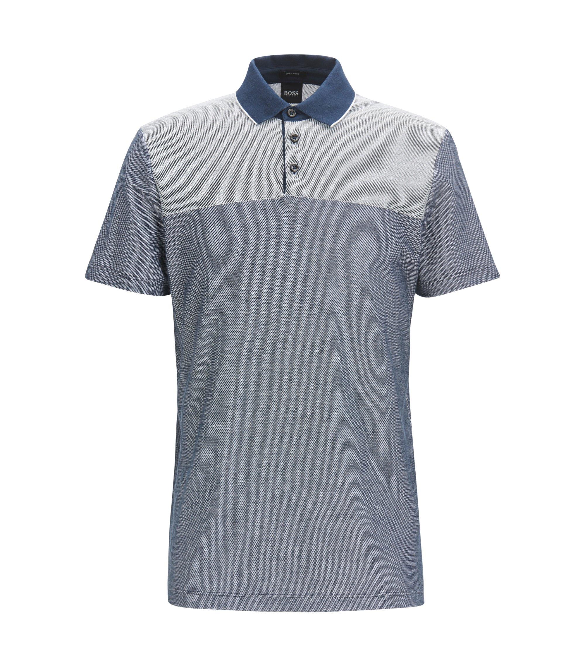 Mercerized Cotton Knit Polo Shirt, Regular Fit | Pack, Dark Blue