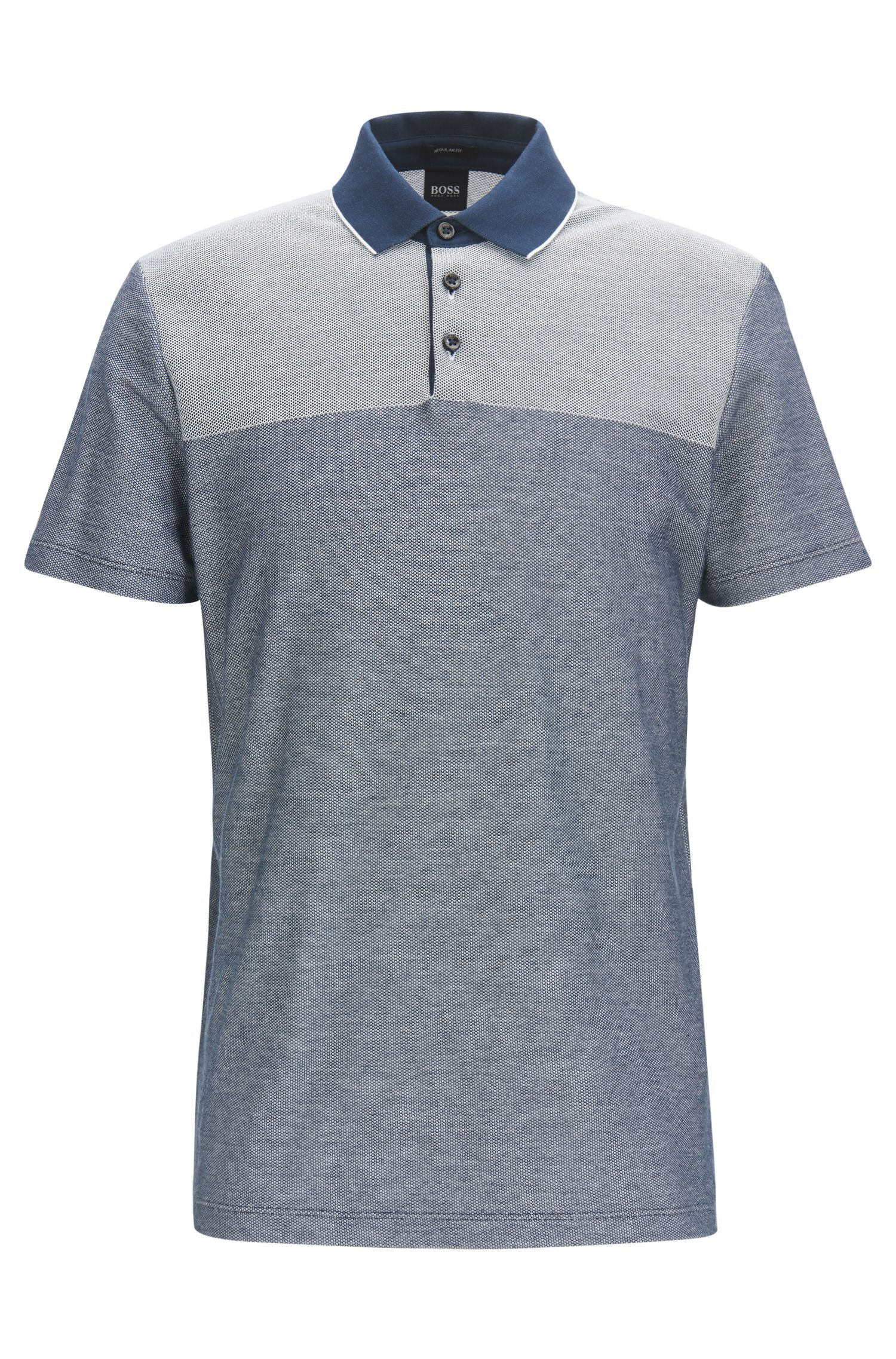 Mercerized Cotton Knit Polo Shirt, Regular Fit | Pack