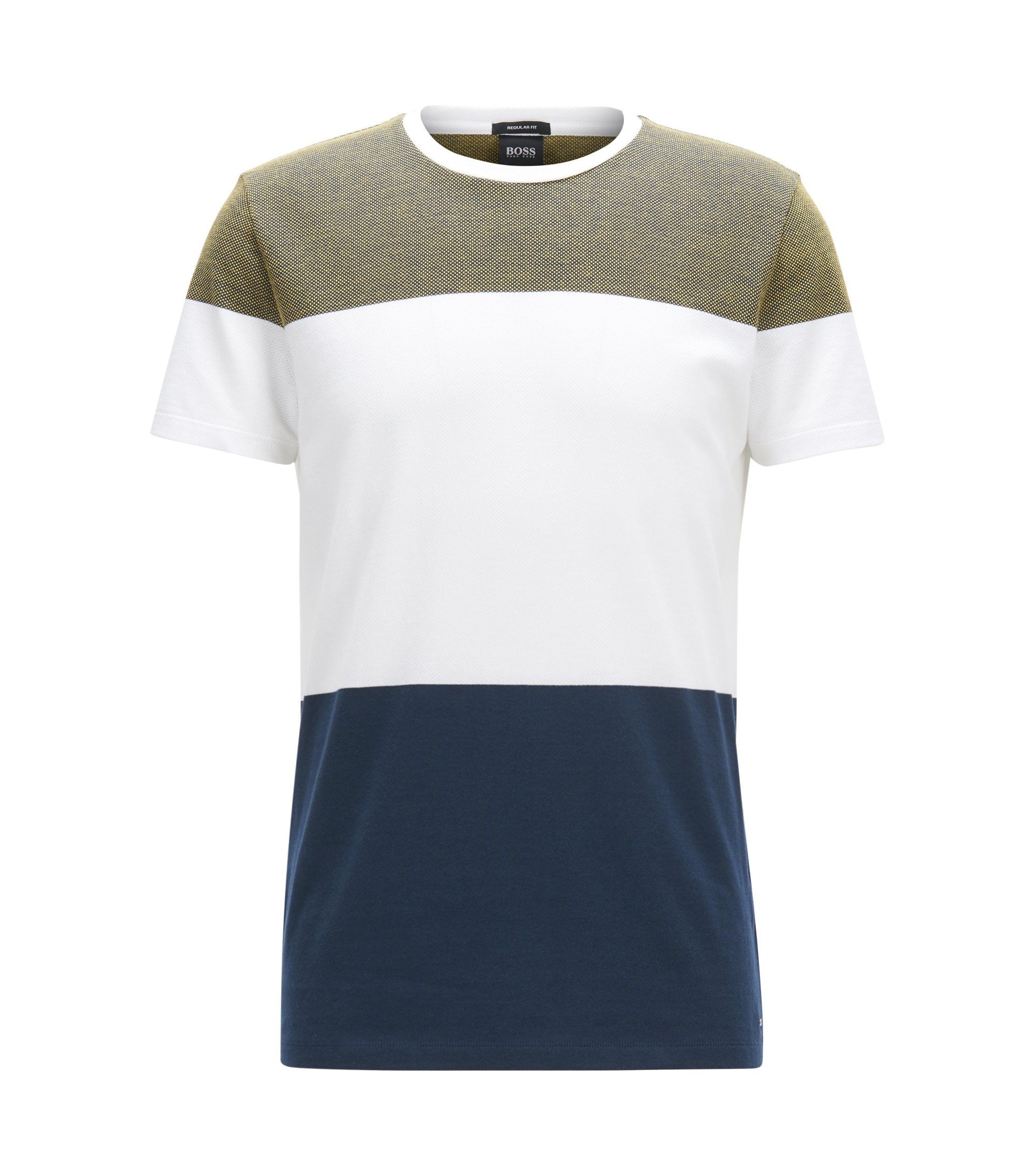 Colorblocked Cotton T-Shirt | Tiburt, Dark Blue