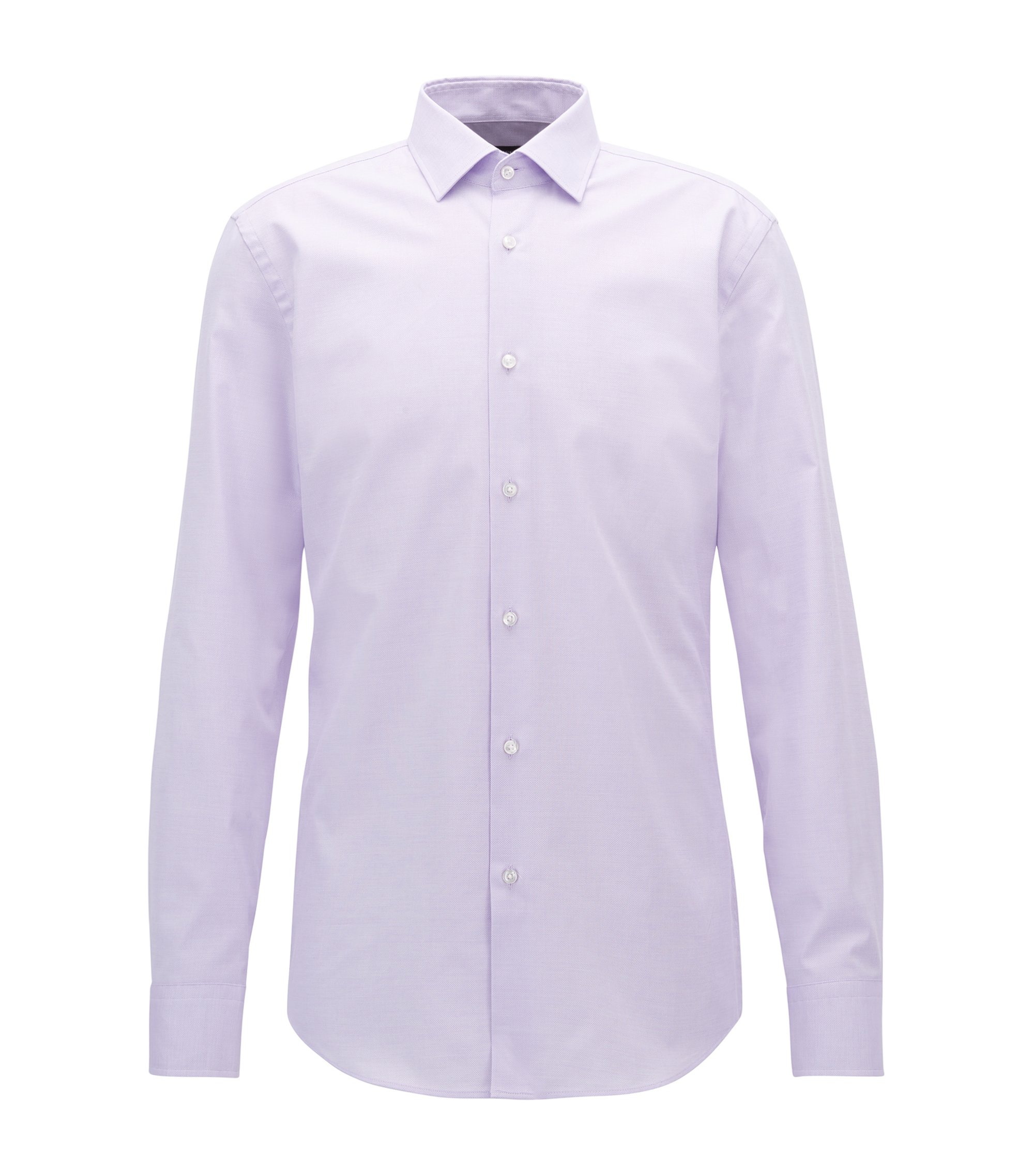 Stretch Cotton Dress Shirt, Slim Fit | Jenno, Light Purple