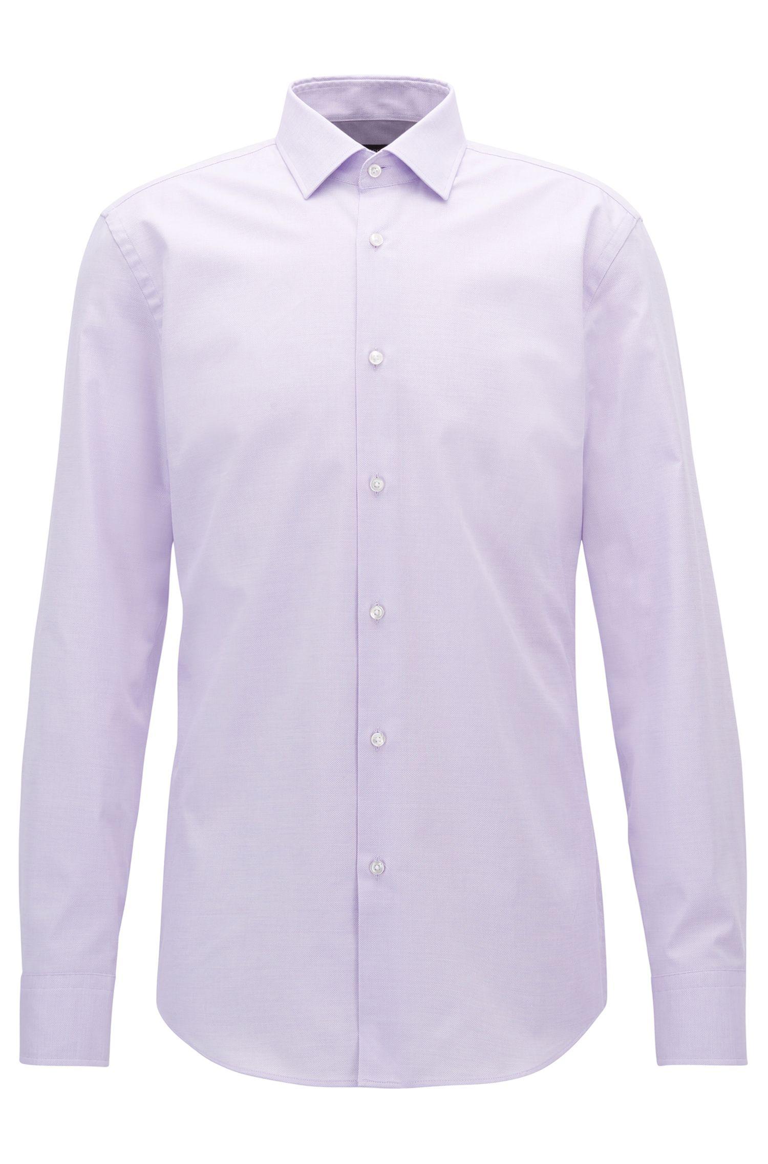 Stretch Cotton Dress Shirt, Slim Fit | Jenno, Light Purple