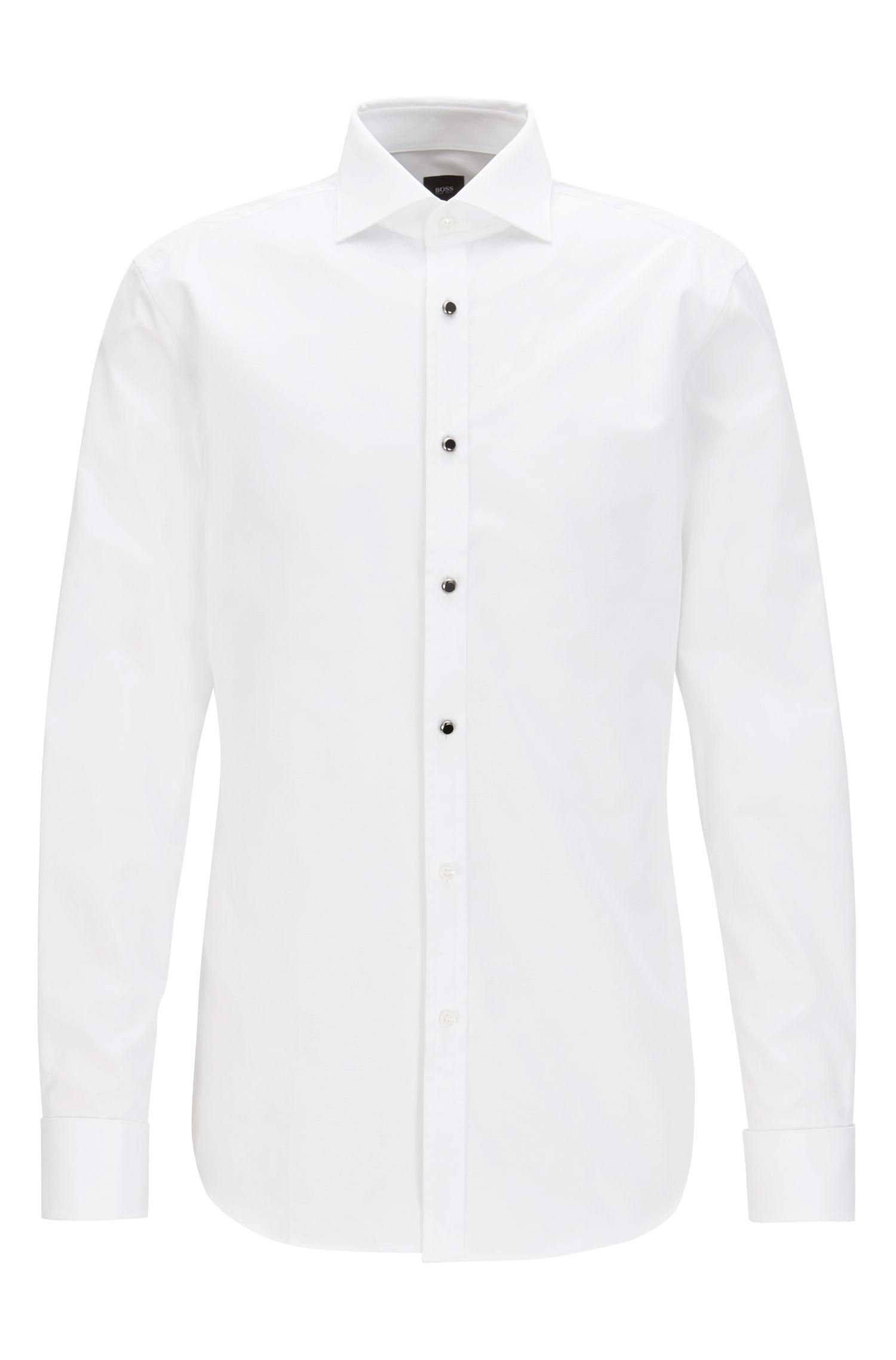 Cotton Dress Shirt, Slim Fit | T-Clayton
