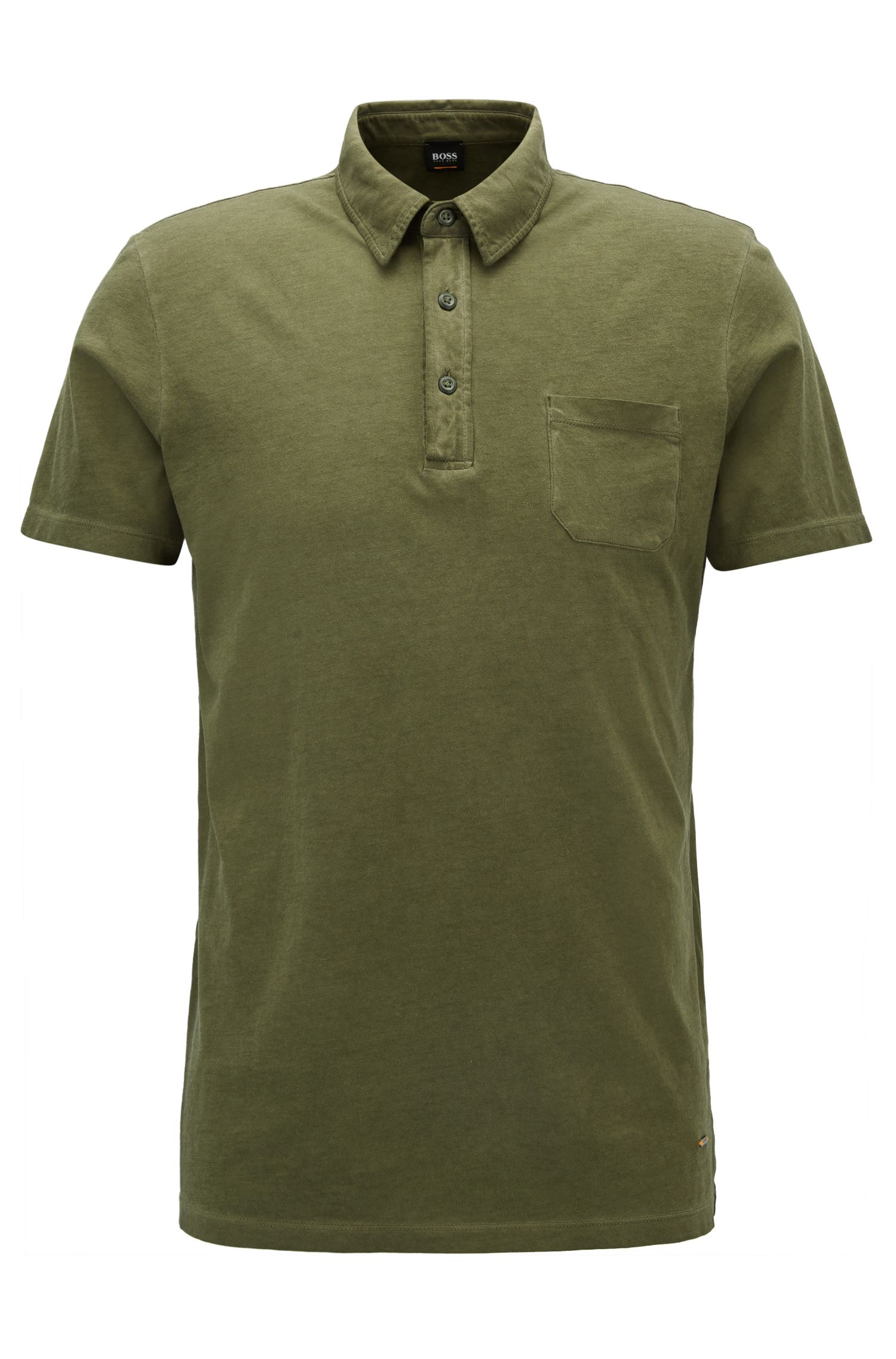 Garment-Dyed Cotton Polo Shirt, Regular Fit | Purpose