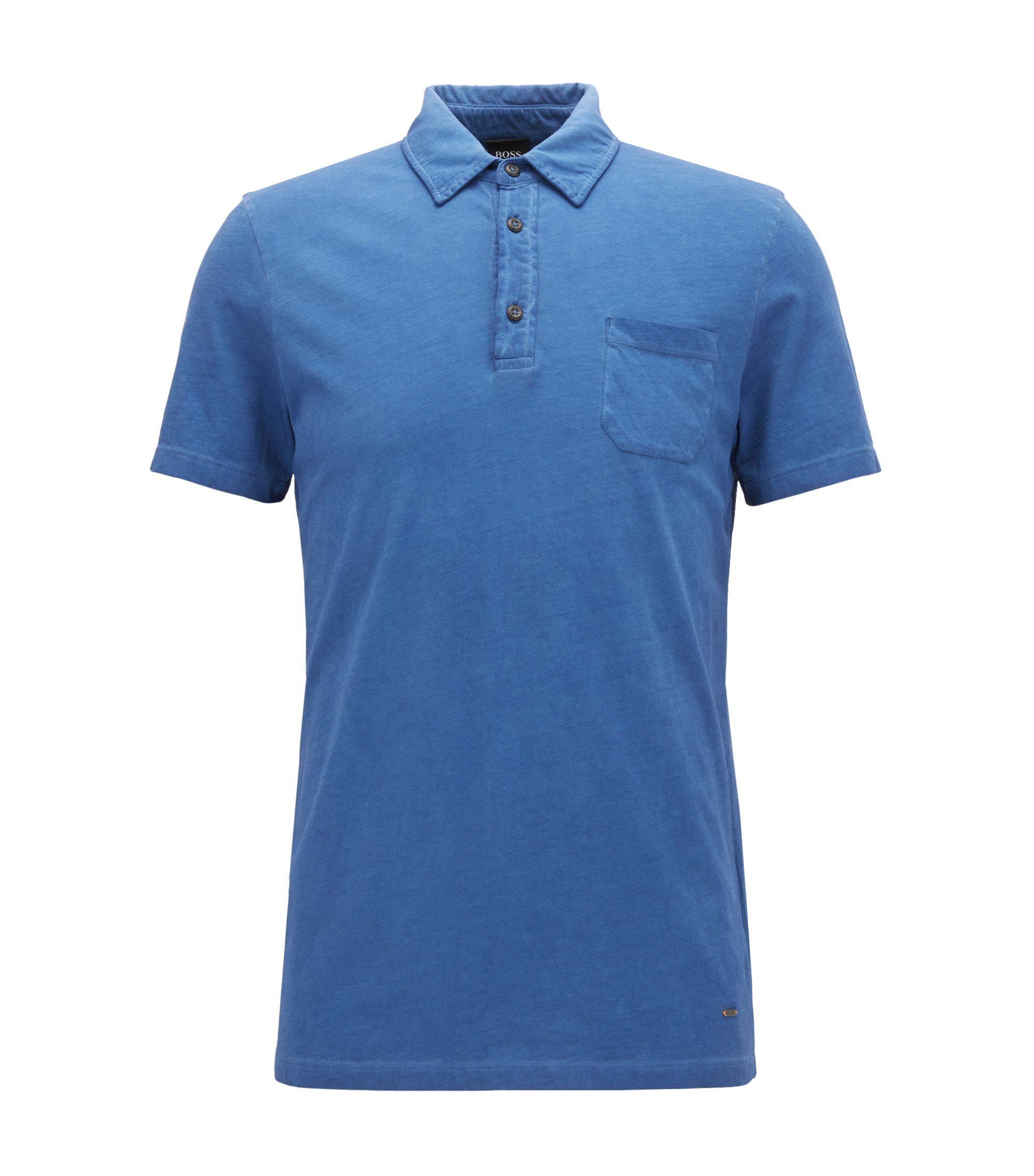Garment-Dyed Cotton Polo Shirt, Regular Fit | Purpose, Blue