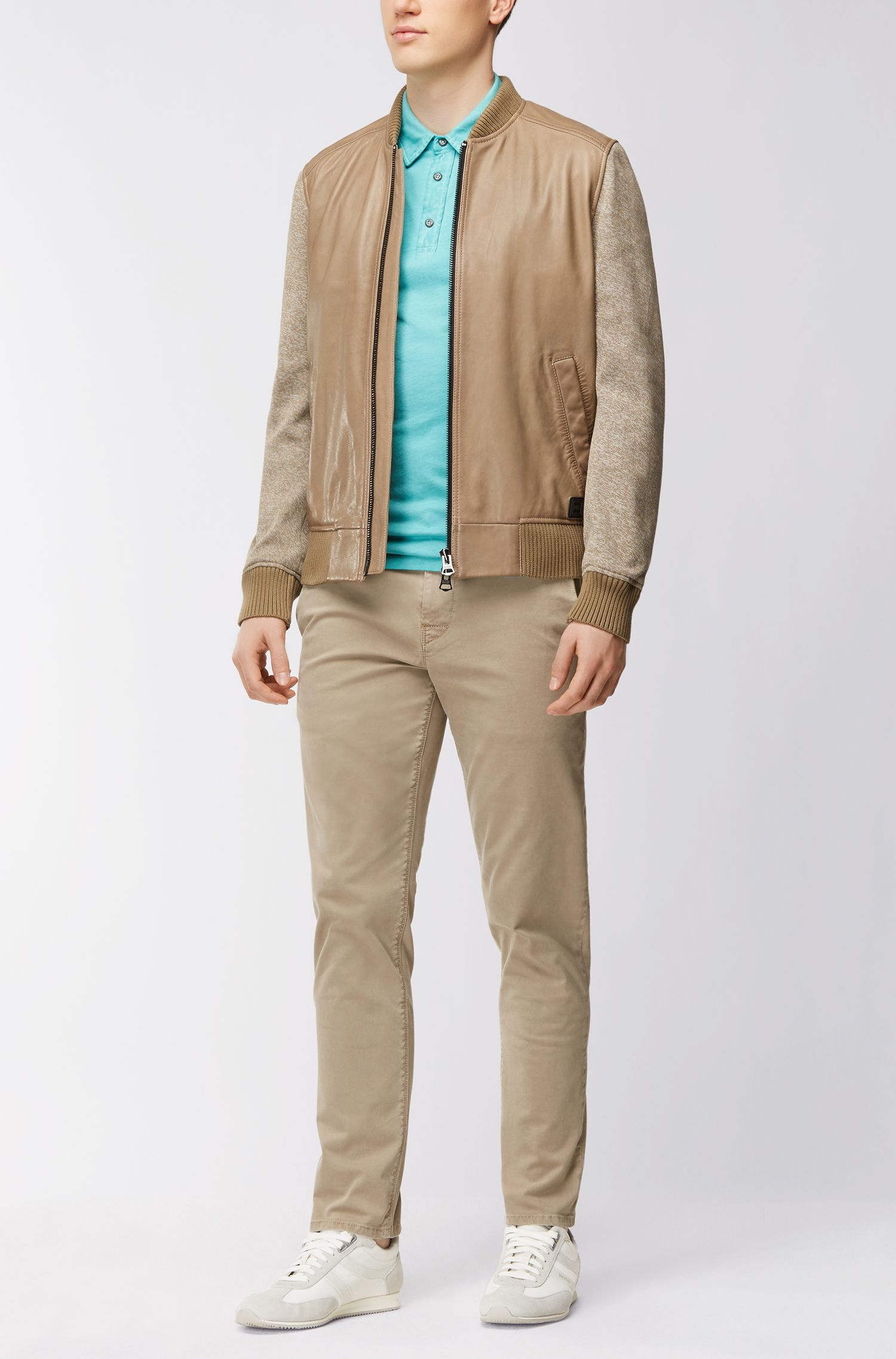 Garment-Dyed Cotton Polo Shirt, Regular Fit | Purpose