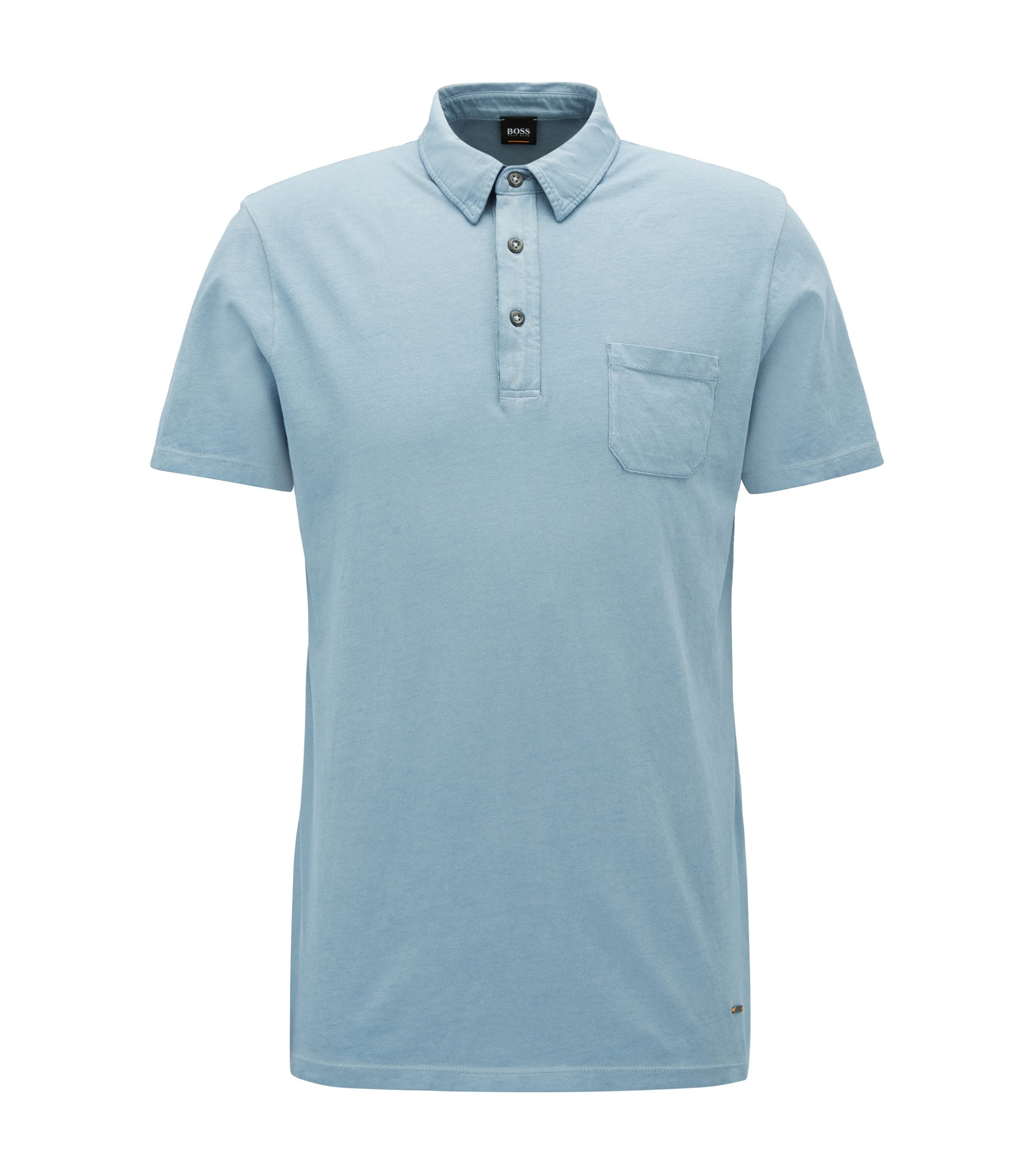 Garment-Dyed Cotton Polo Shirt, Regular Fit | Purpose, Open Blue