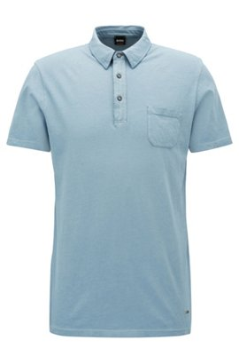Cheap Fast Delivery Garment-dyed T-shirt in cotton pique BOSS Buy Cheap Sast sUH5aj07