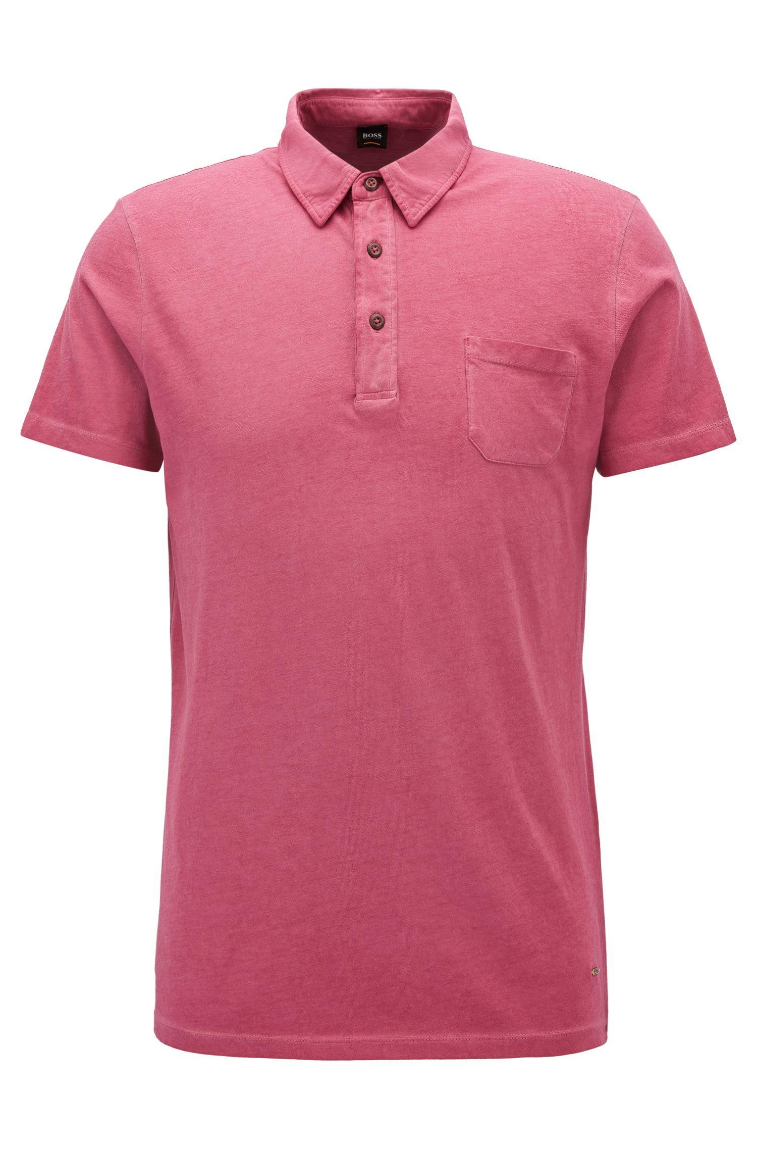 Garment-Dyed Cotton Polo Shirt, Regular Fit | Purpose, Dark Purple