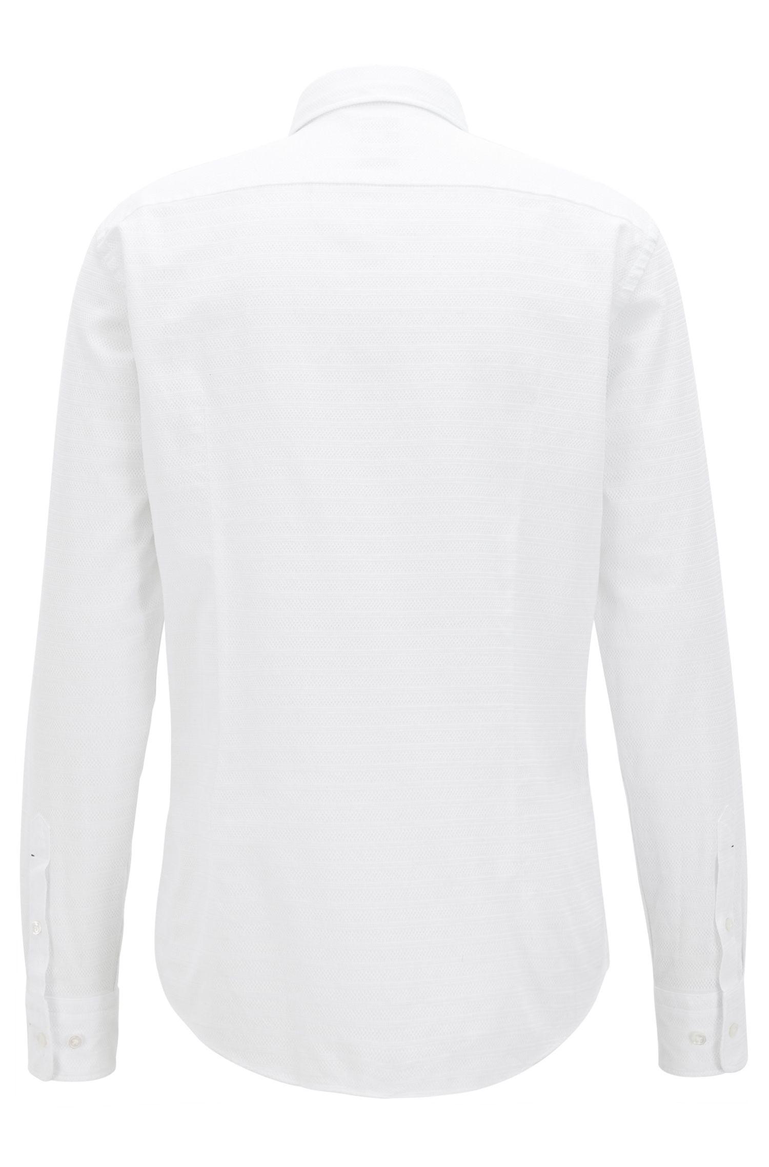 Striped Cotton Sport Shirt, Slim Fit | T-Riccardo F