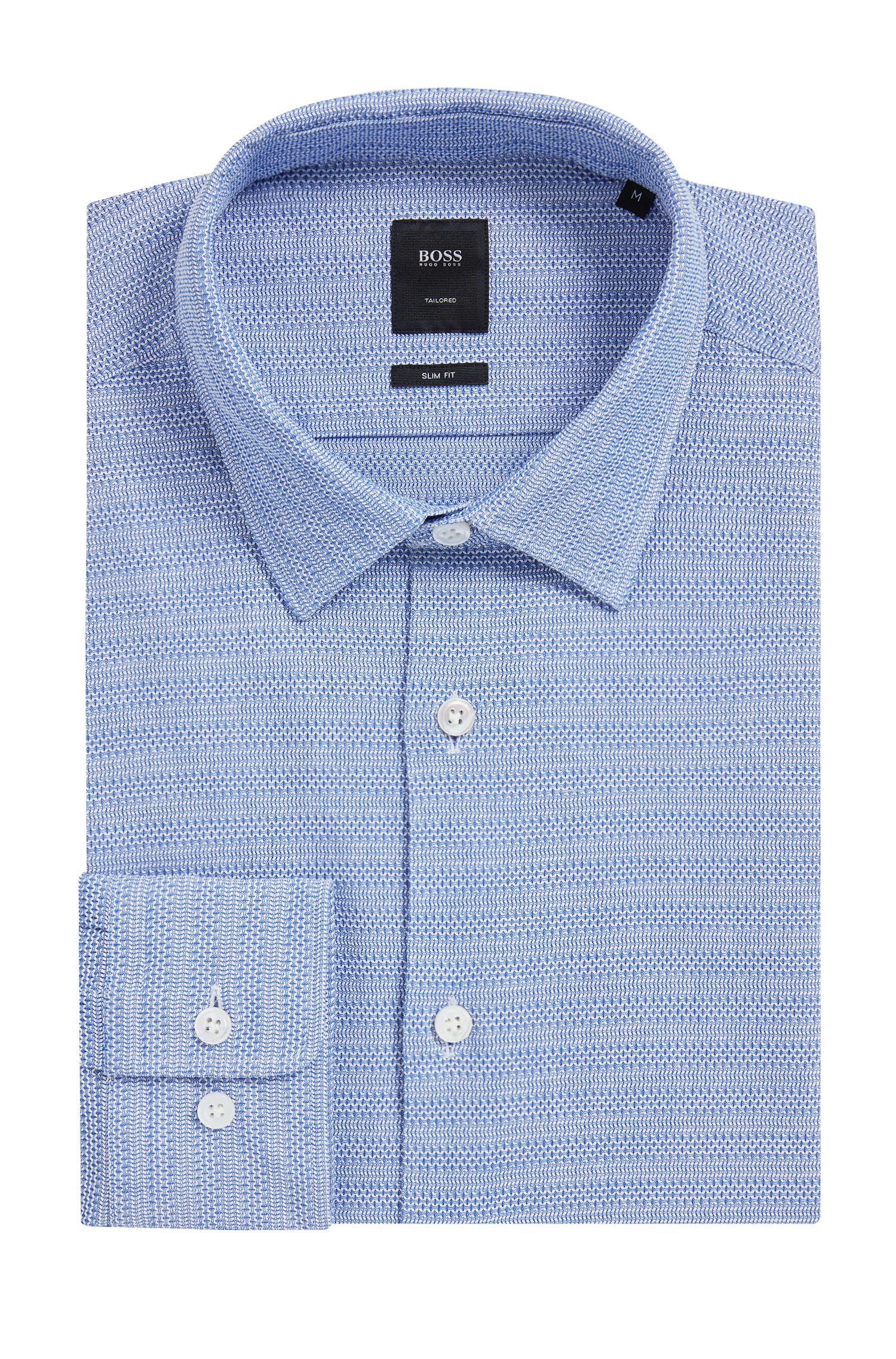 Striped Cotton Sport Shirt, Slim Fit | T-Riccardo F