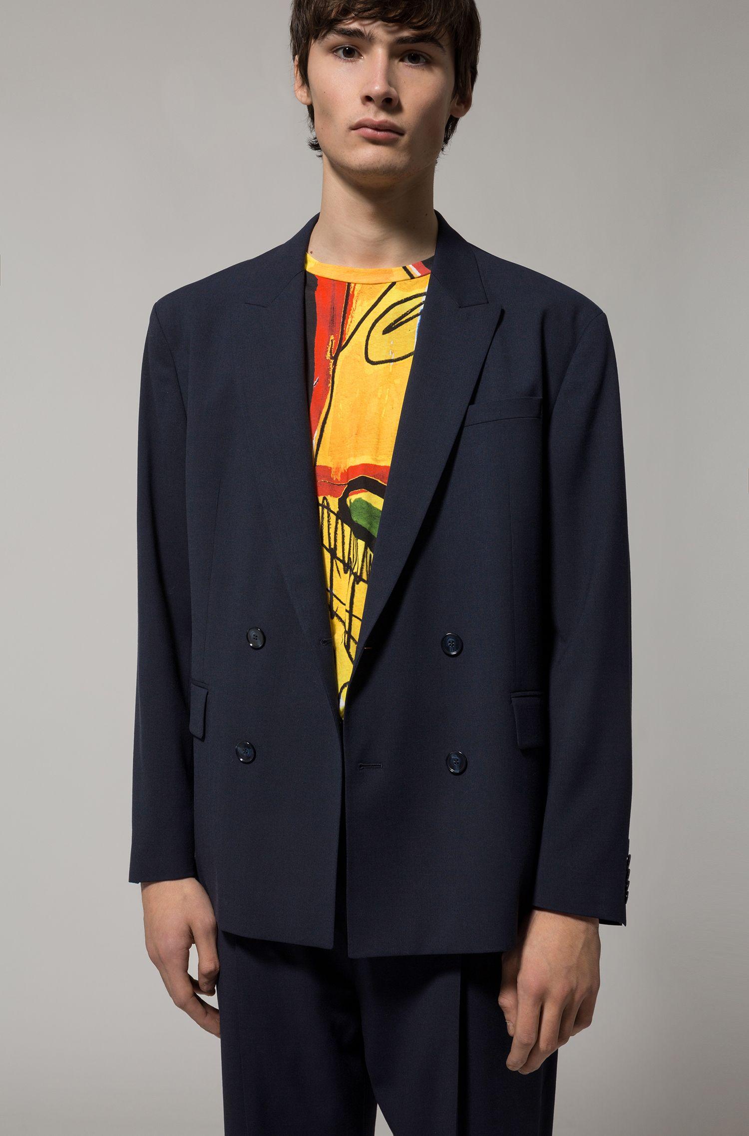 Virgin Wool Cotton Suit, Slim Fit | Ulan/Fabo