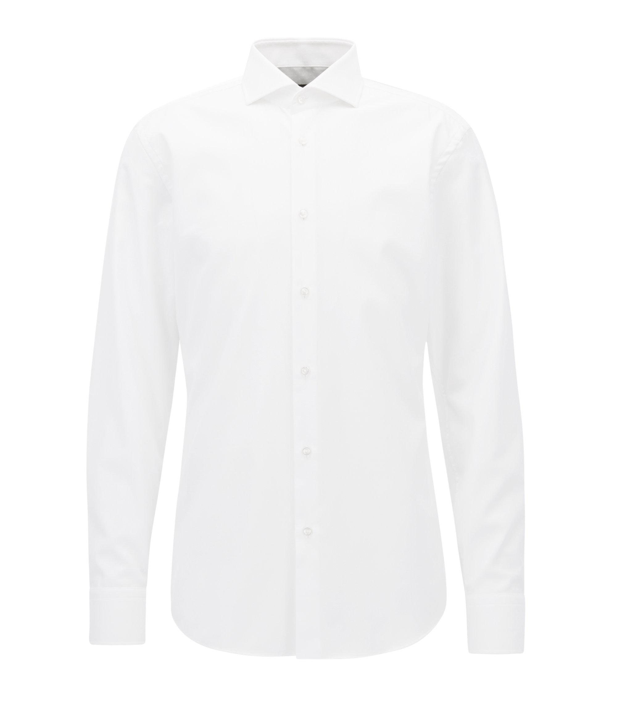 Traveler Cotton Dress Shirt, Slim Fit | Jason , White