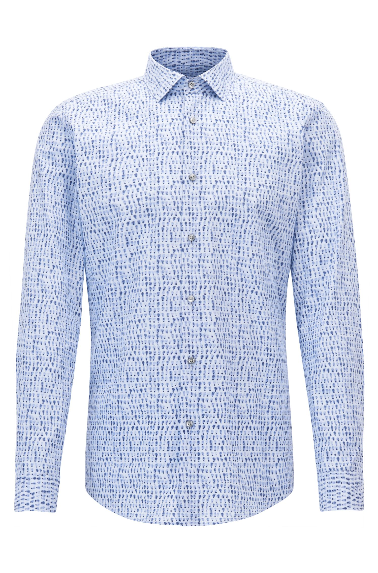 Patterned Cotton Dress Shirt, Slim Fit | Ismo
