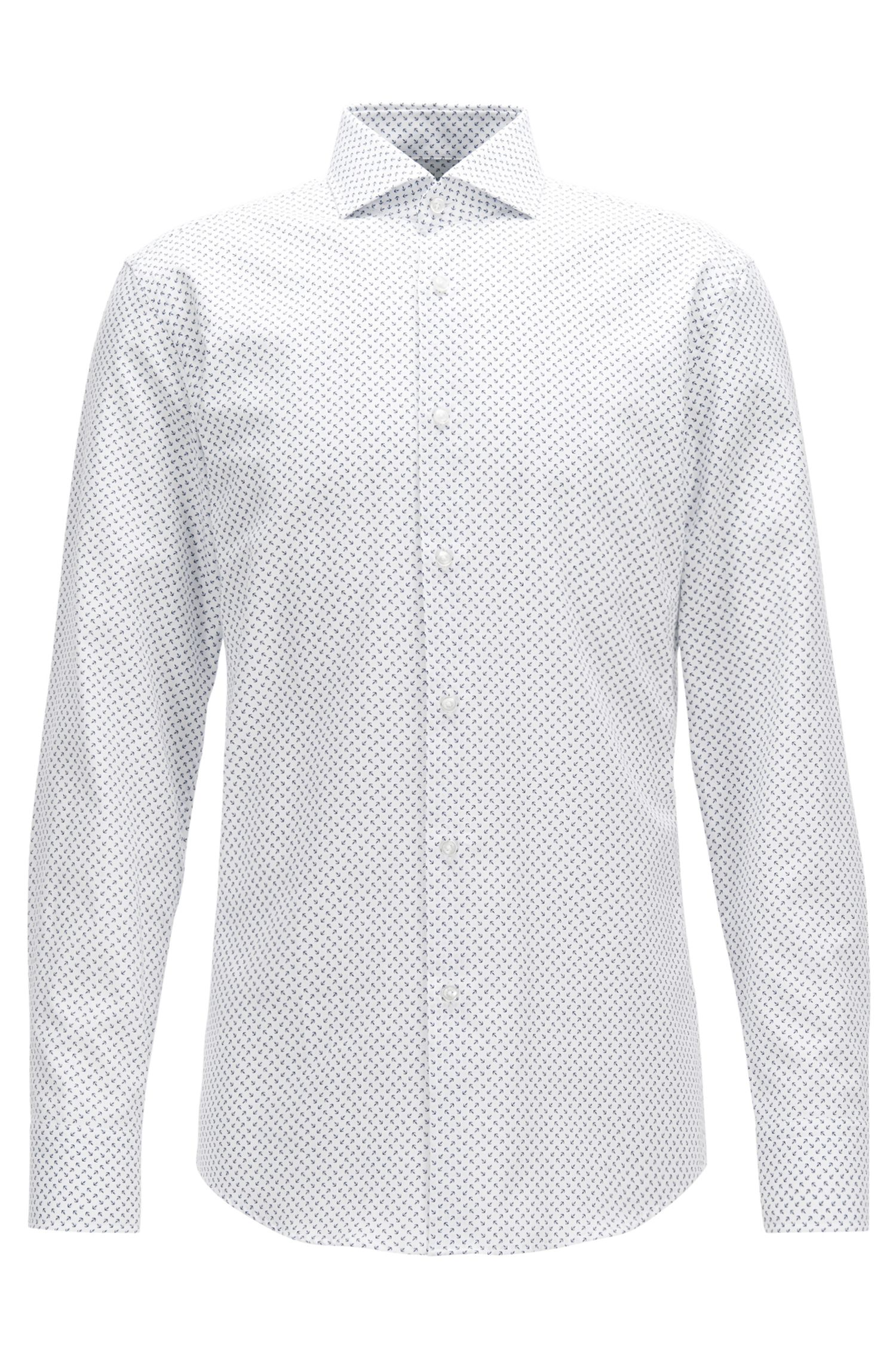Printed Cotton Dress Shirt, Slim Fit | Jason
