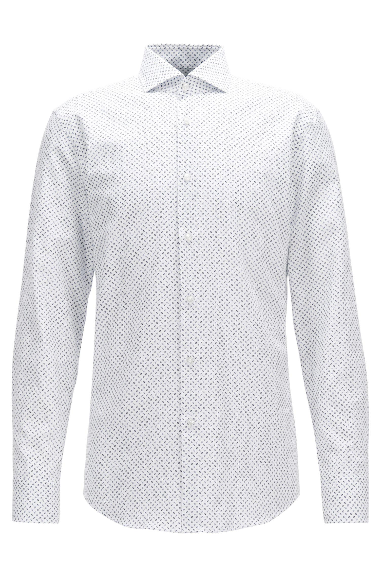 Printed Cotton Dress Shirt, Slim Fit | Jason