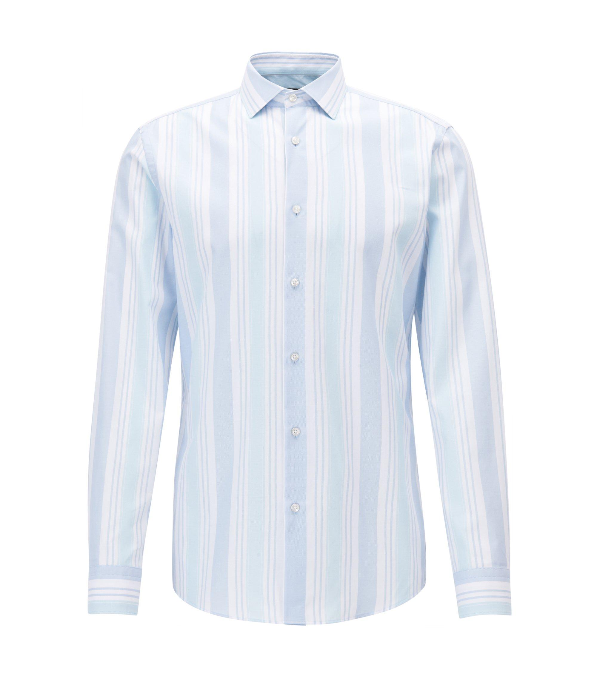 Cotton Dress Shirt, Slim Fit   Ismo, Turquoise