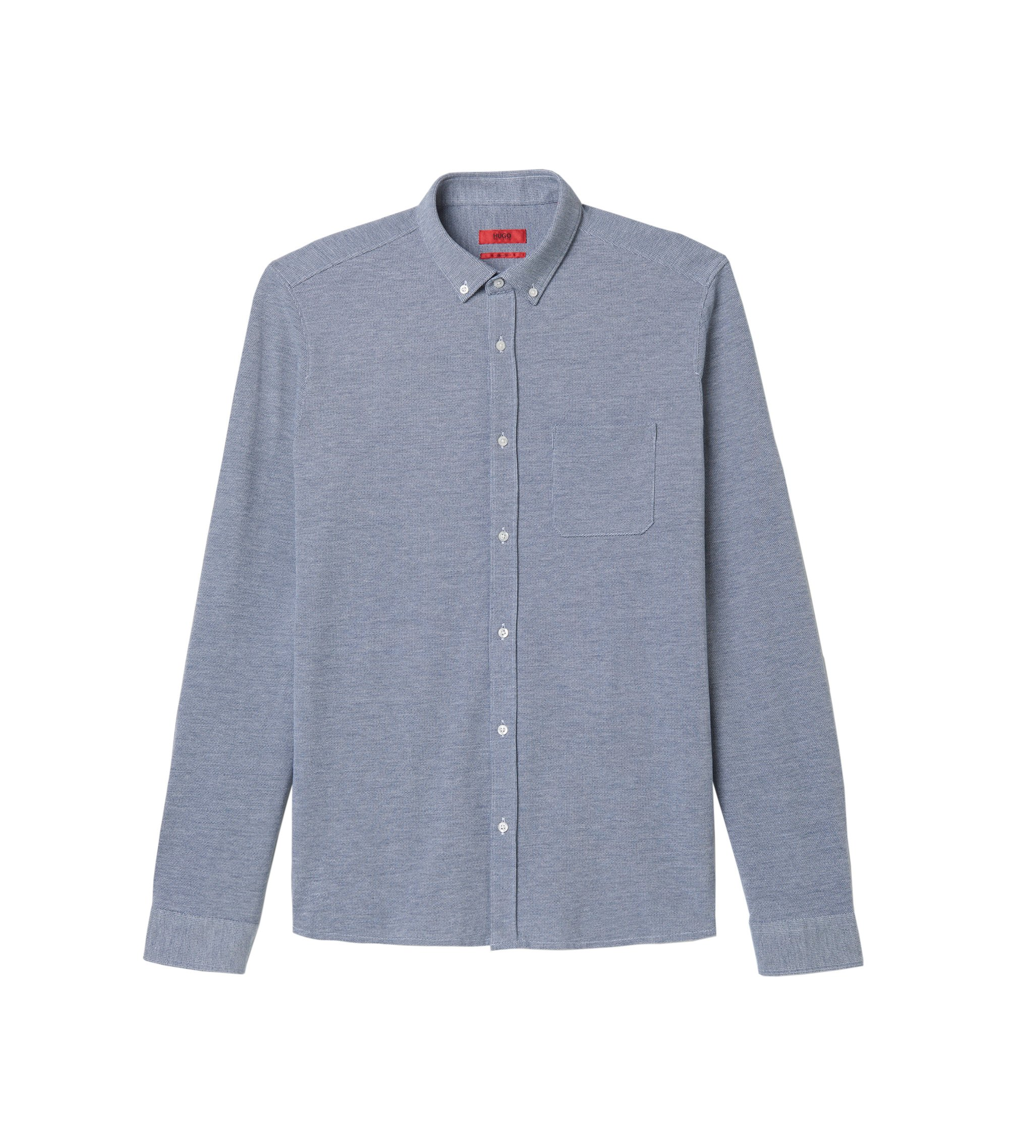 Pure Cotton Shirt, Relaxed Fit | Emingway, Dark Blue