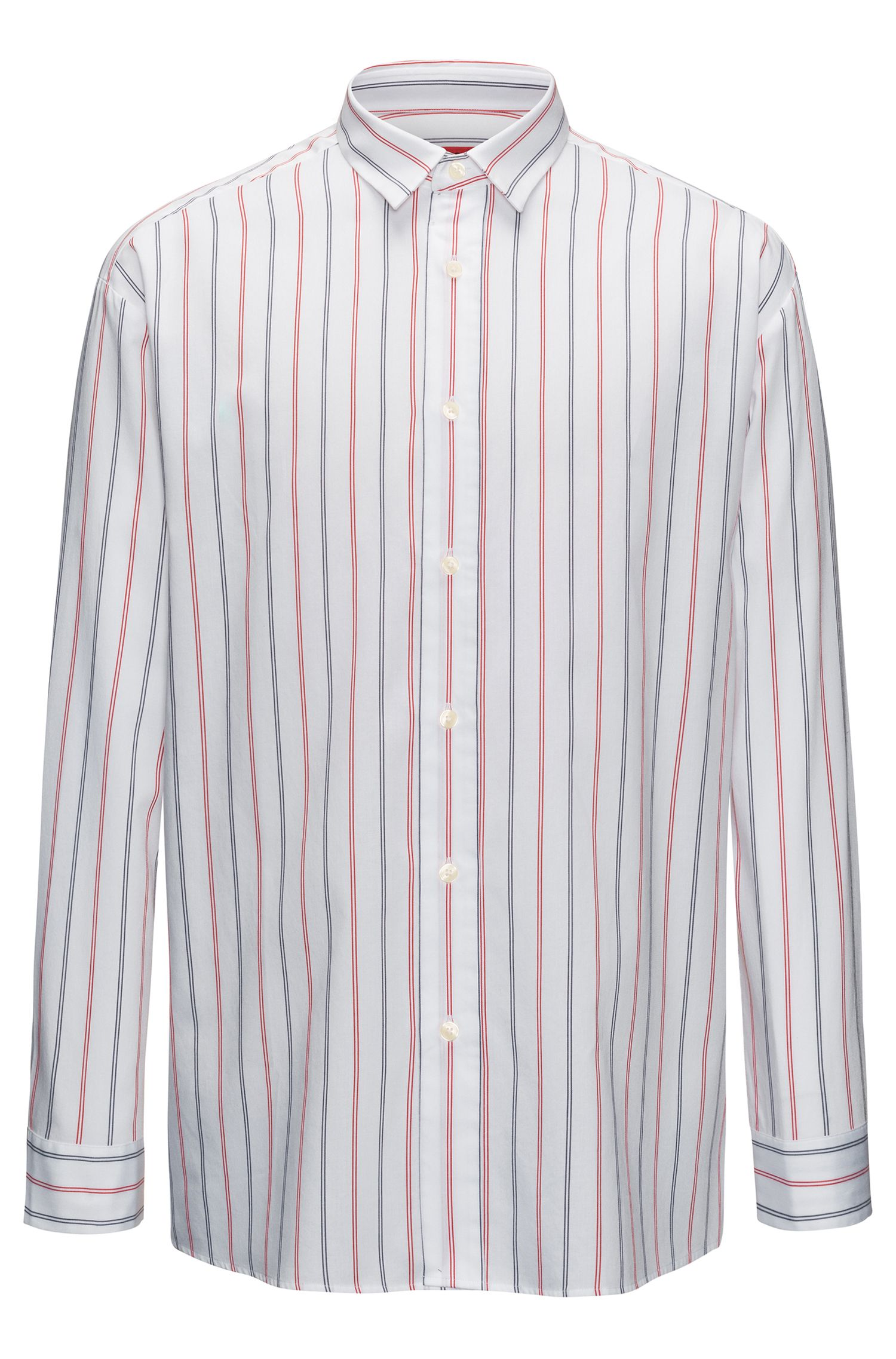 Striped Sport Shirt, Relaxed FIt | Emilton, Red