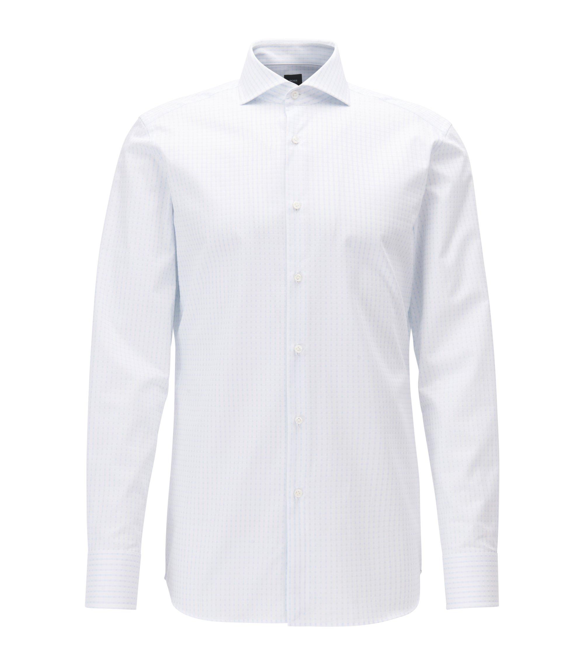 Tonal Check Cotton Dress Shirt, Slim Fit | T-Christo, Light Blue