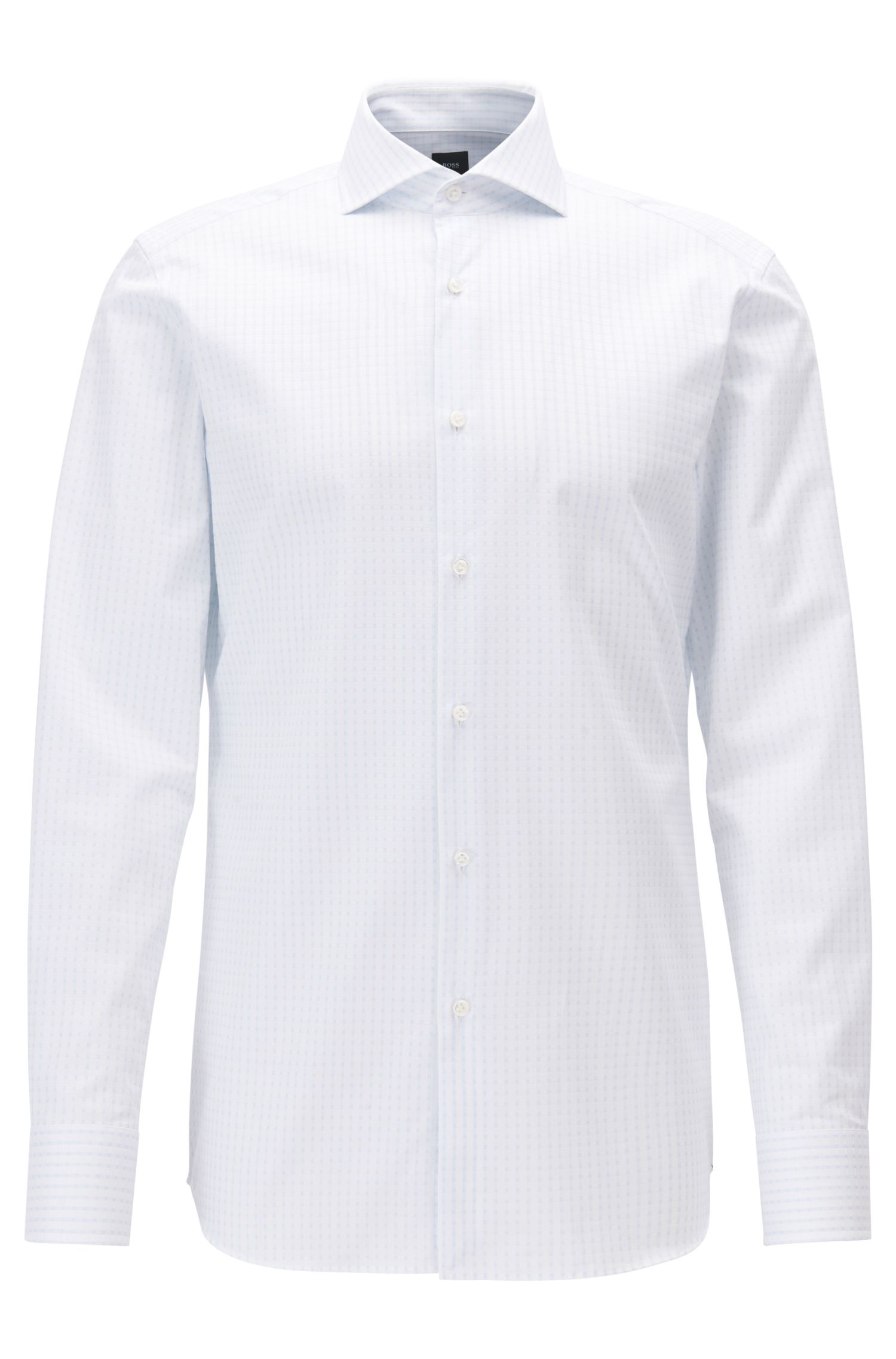 Tonal Check Cotton Dress Shirt, Slim Fit | T-Christo