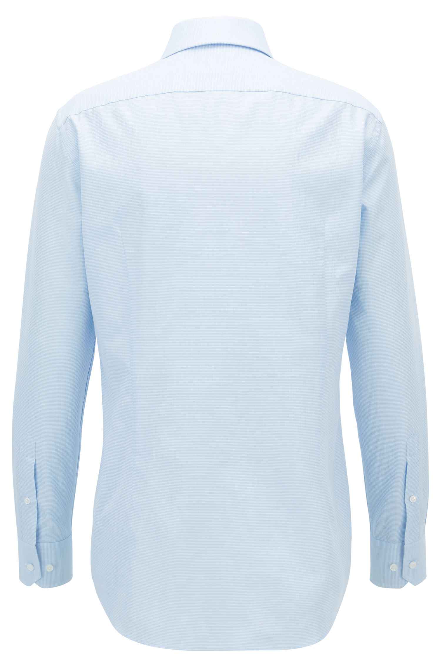 Check Cotton Dress Shirt, Slim Fit | T-Christo, Light Blue