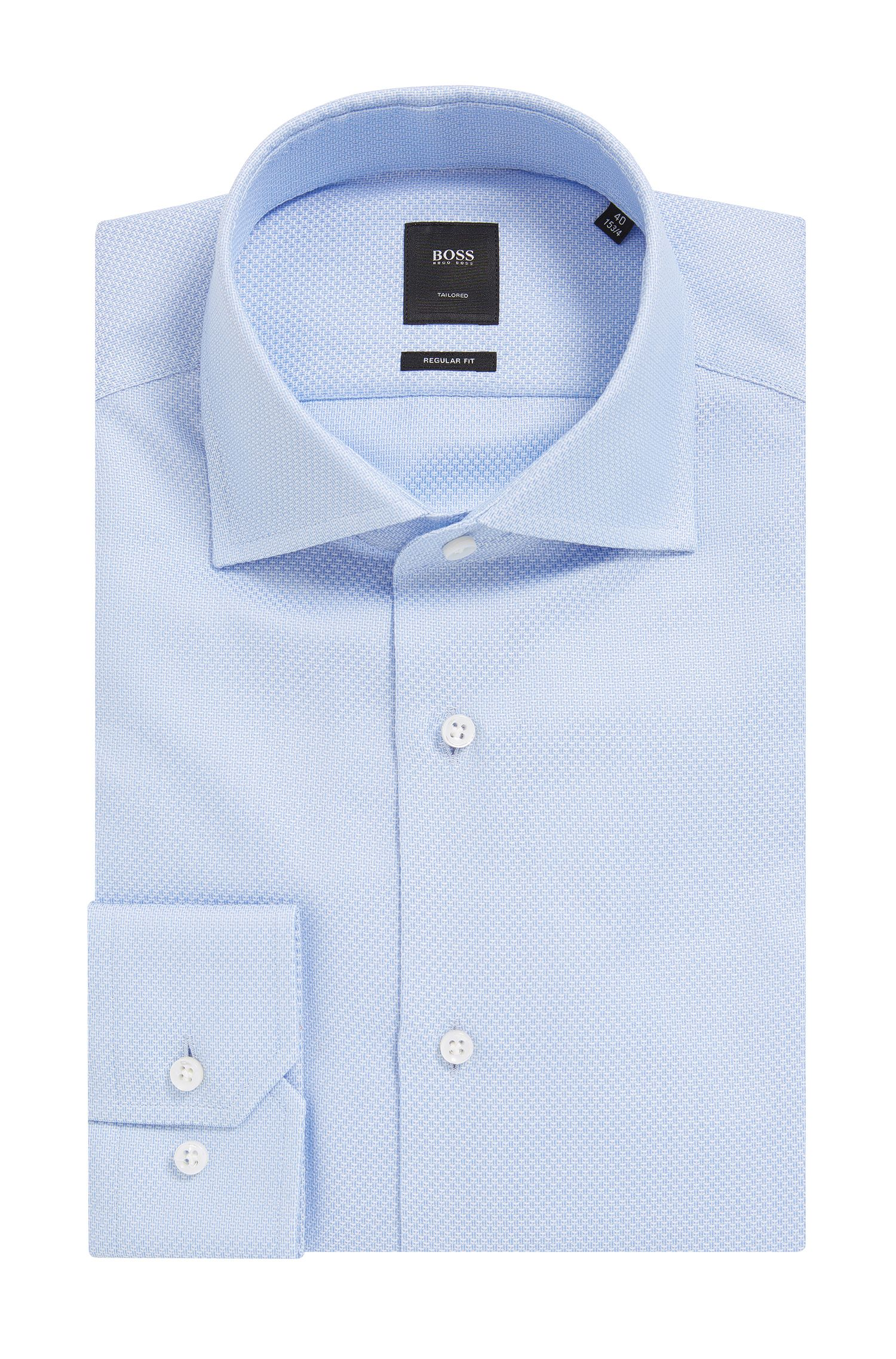 Cotton Dress Shirt, Regular Fit | T-Stenson , Light Blue
