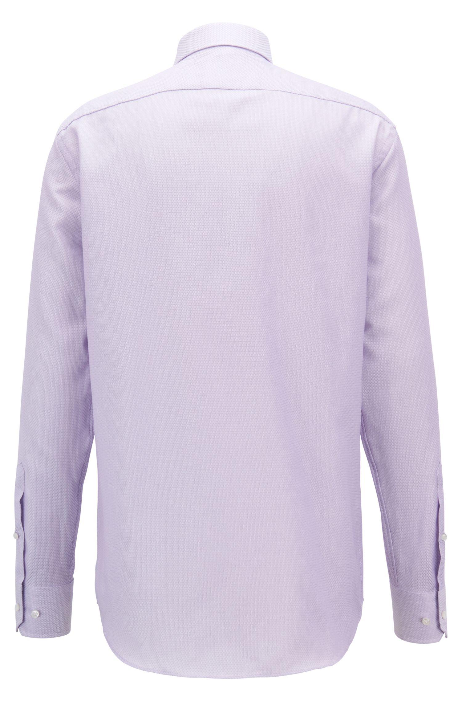 Cotton Dress Shirt, Regular Fit | T-Stenson , Light Purple