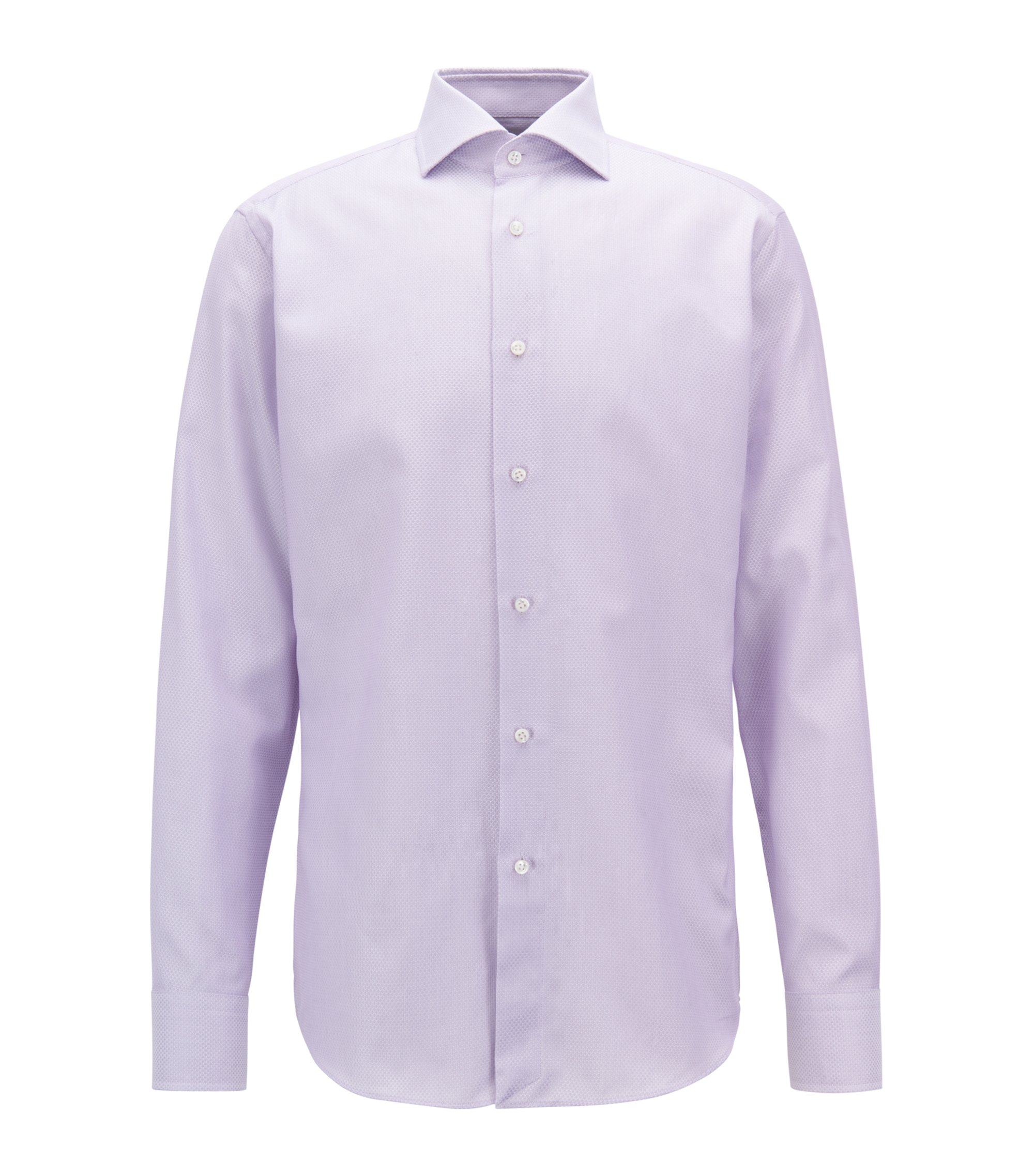 Cotton Dress Shirt, Regular Fit | T-Stenson , Light Purple