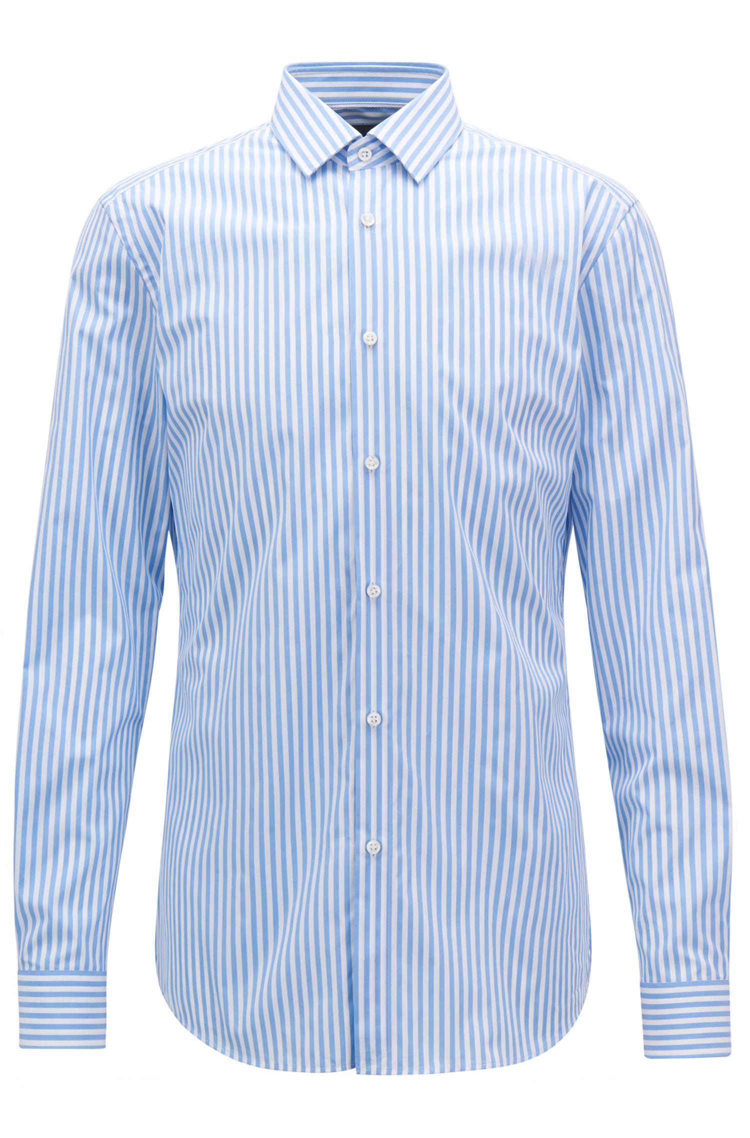 Striped Cotton Dress Shirt, Slim Fit | T-Scott
