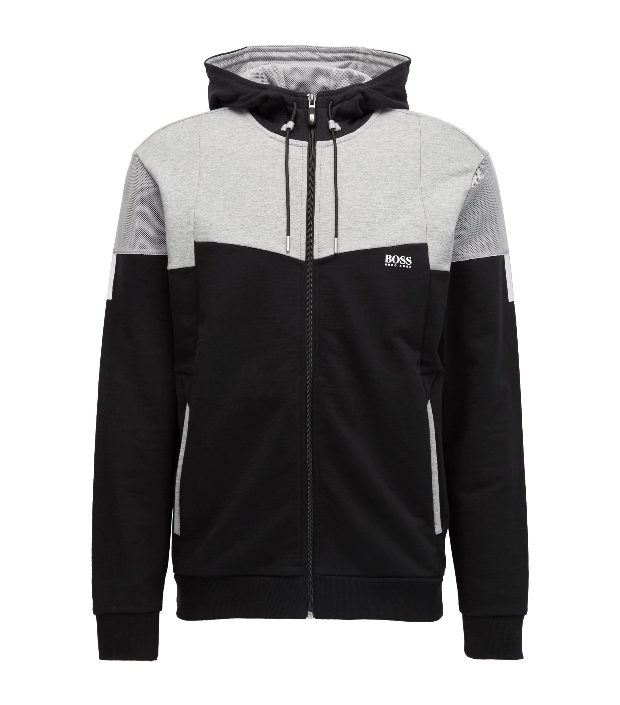 Cotton Full-Zip Hoodie | Saggy, Black