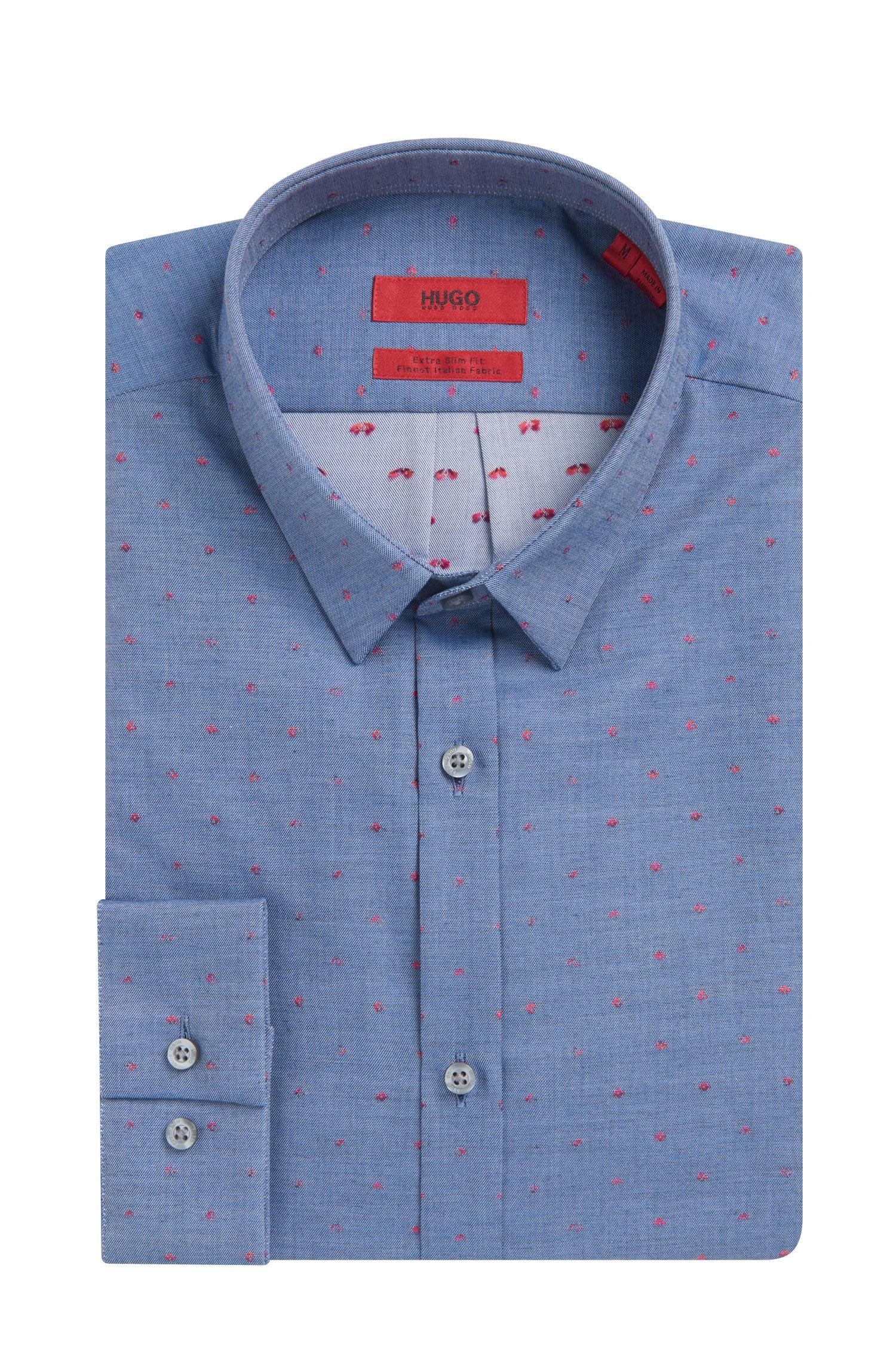 Scribbled Sport Shirt, Extra Slim Fit | Ero, Dark Blue
