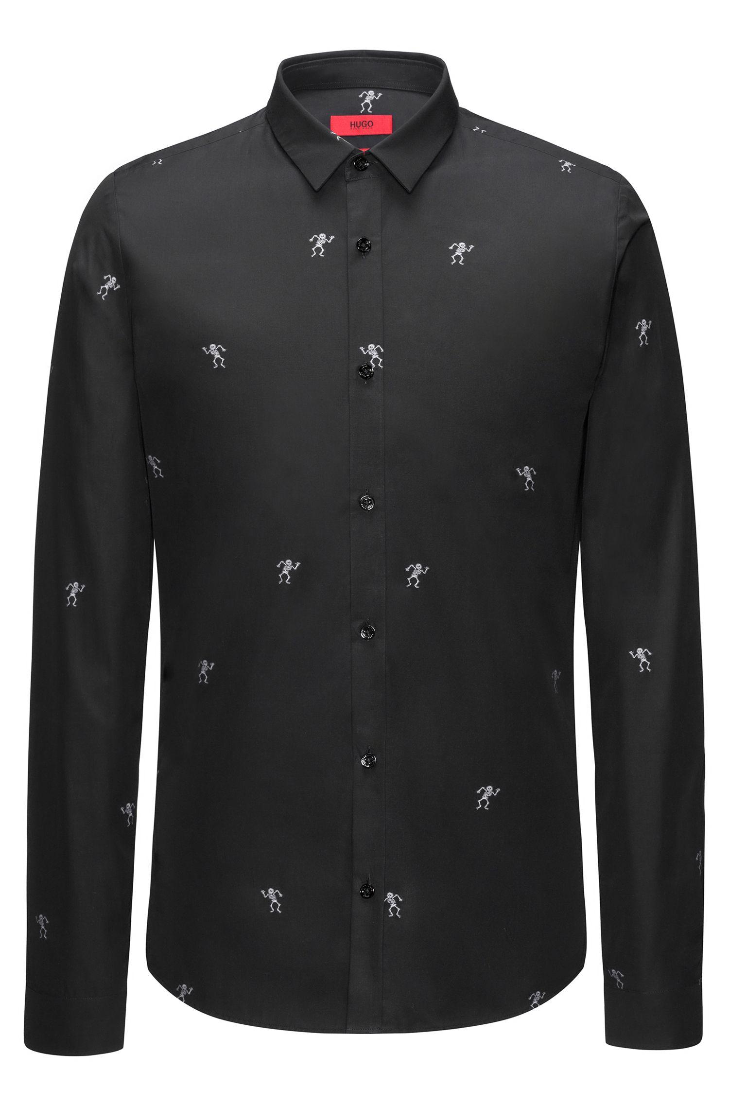 Skeleton Italian Cotton Dress Shirt, Extra Slim Fit | Ero
