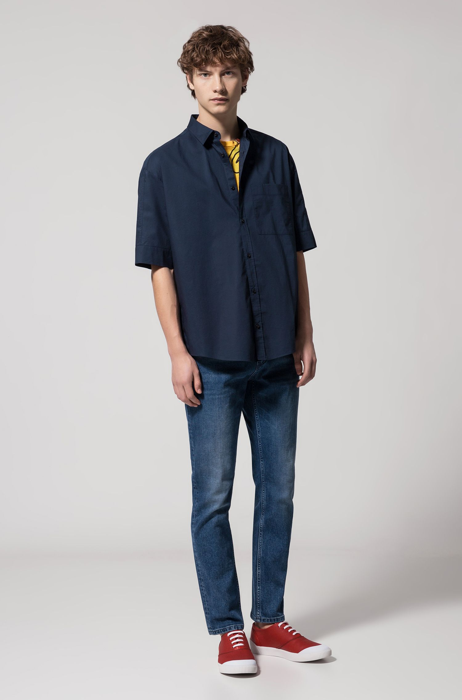Cotton Sport Shirt, Oversize Fit | Eynold