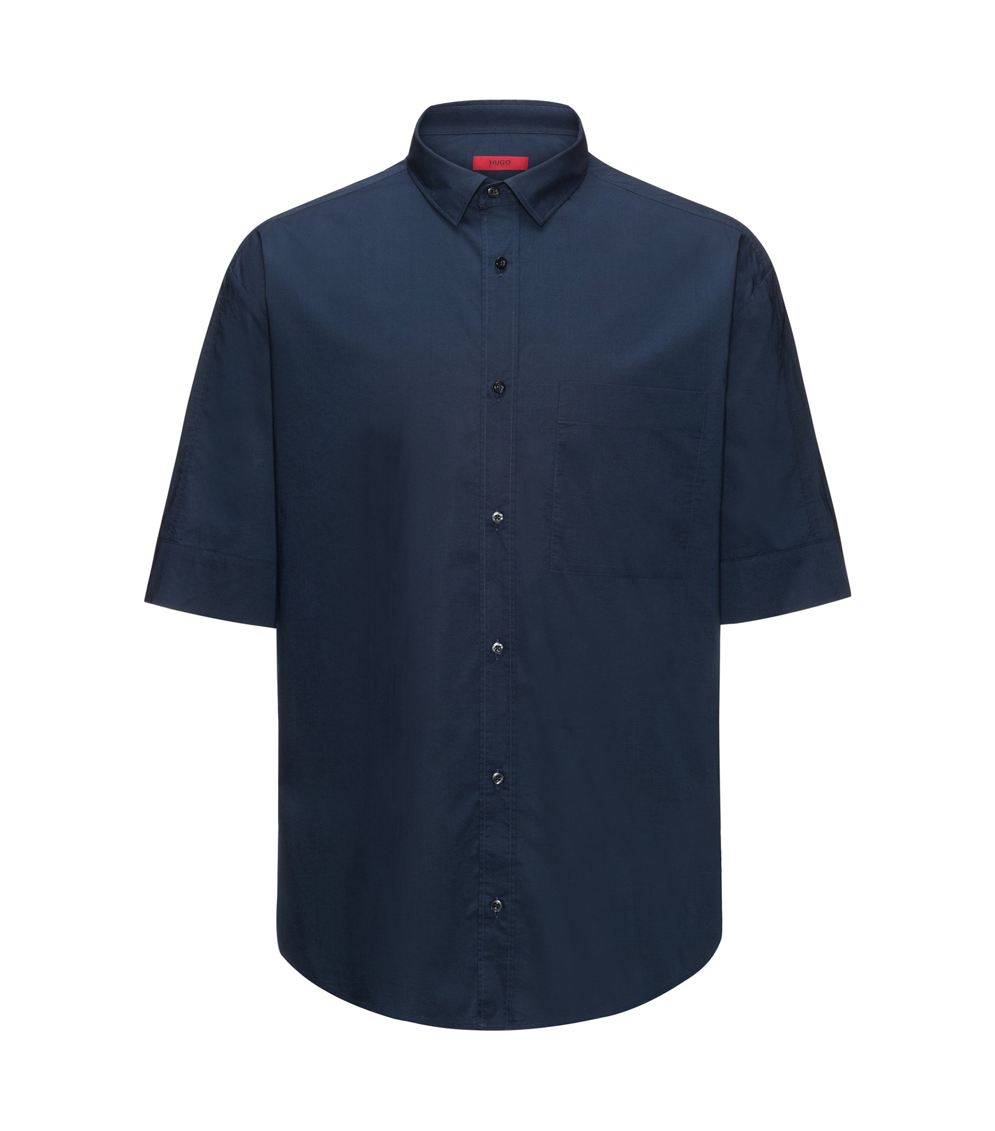 Cotton Sport Shirt, Oversize Fit | Eynold, Dark Blue