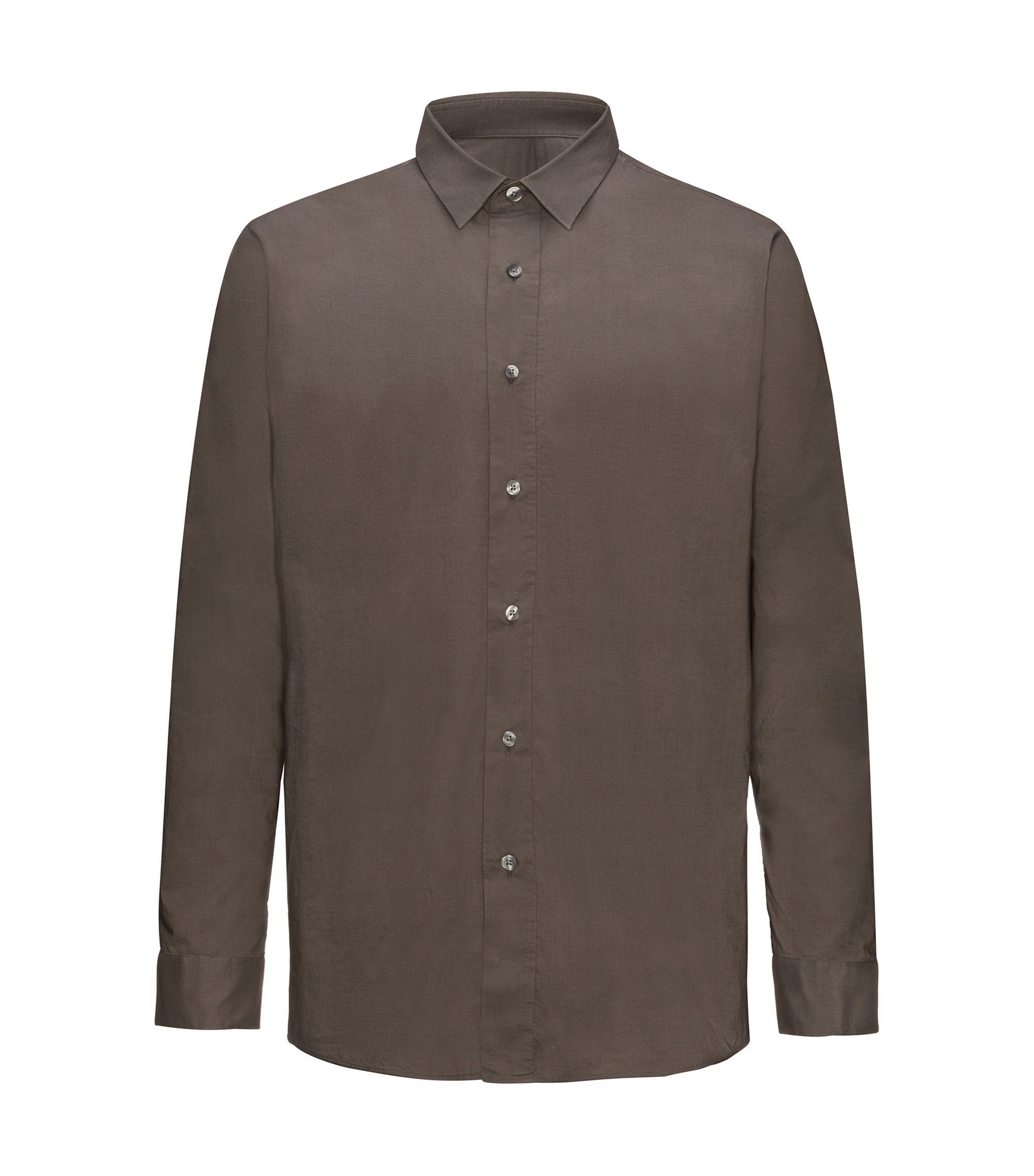 Cotton Sport Shirt, Relaxed Fit | Emilton, Brown