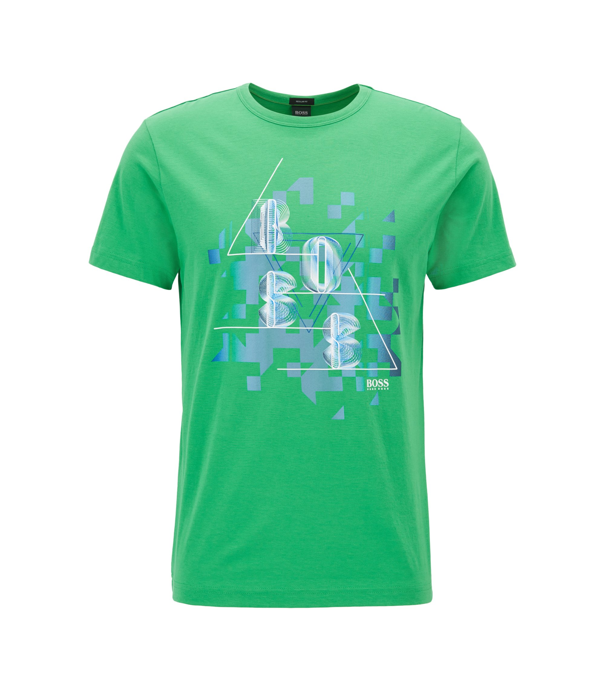 Cotton Graphic T-Shirt | Tee, Green