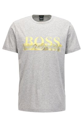 Newest Cheap Price Outlet With Paypal Relaxed-fit cotton jersey T-shirt with mixed graphic print BOSS fobmXqQ
